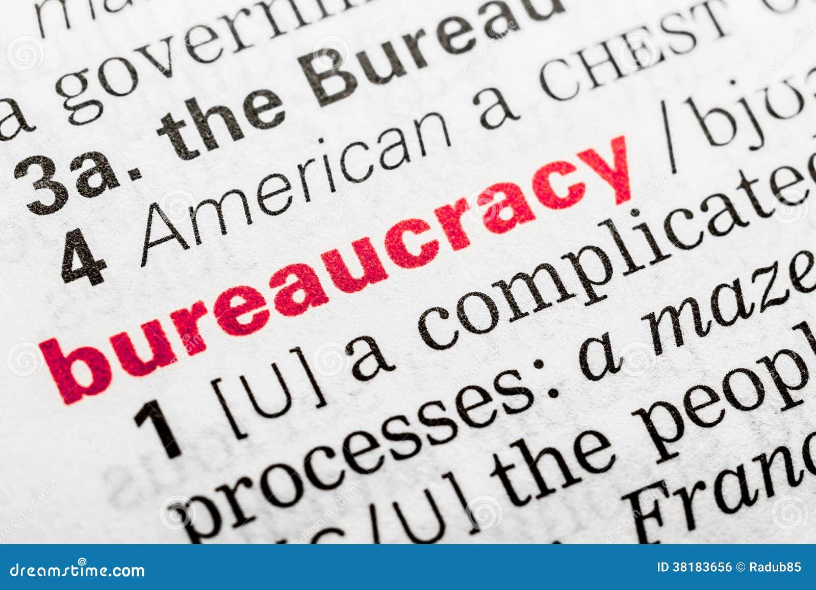 Bureaucracy Word Definition Stock Photo Image 38183656
