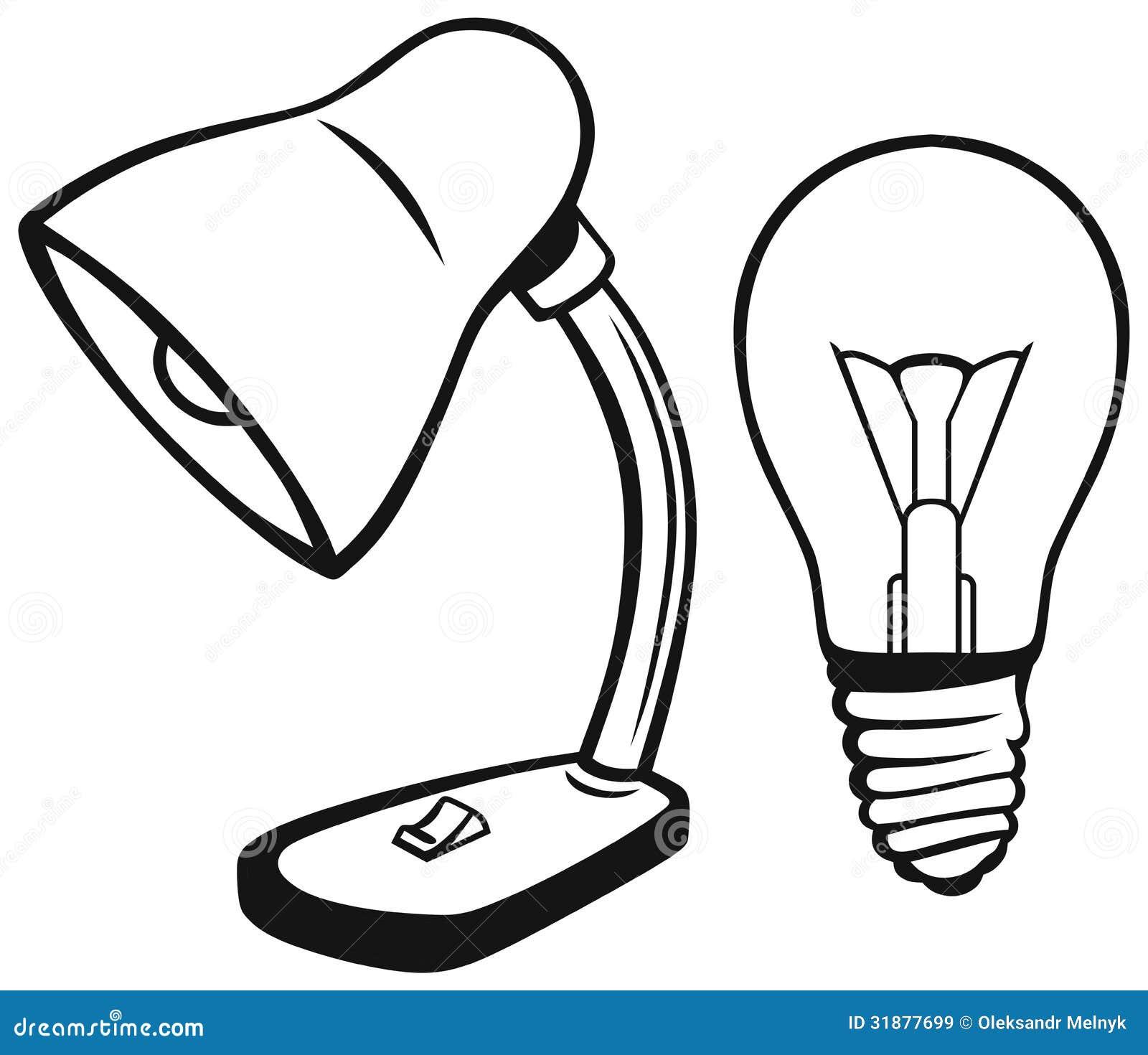 Bureaulamp Royalty-vrije Stock Afbeeldingen - Afbeelding: 31877699