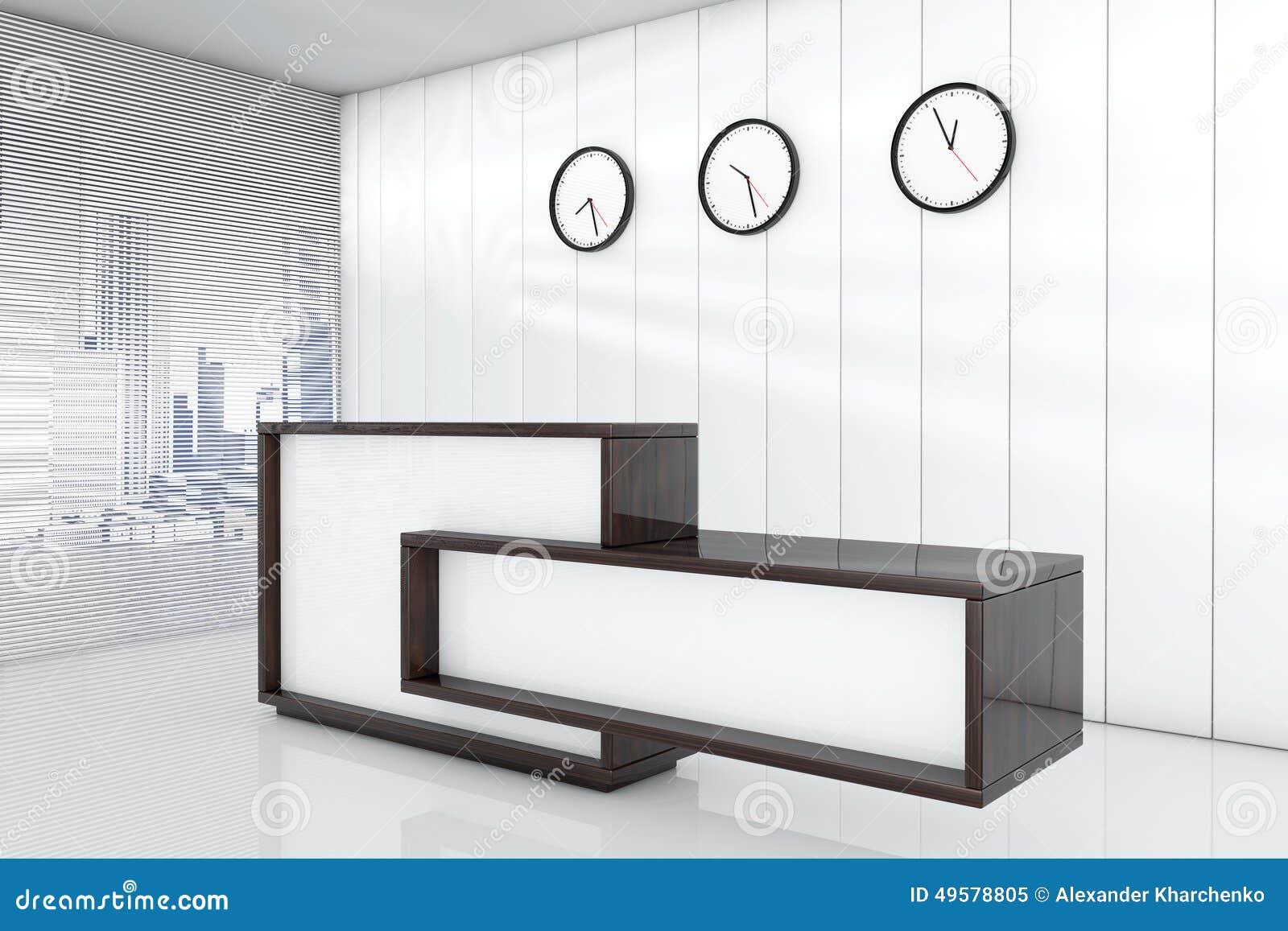 Bureaux comme réception d rendant l intérieur illustration stock