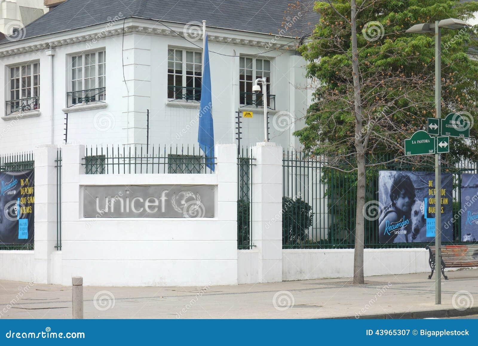 Bureaux de l unicef au chili photographie éditorial image du