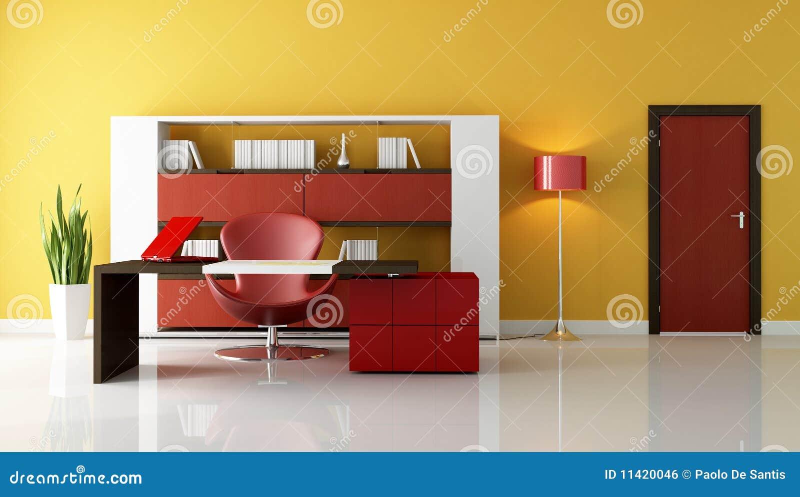 Bureaux modernes illustration stock. illustration du orange 11420046