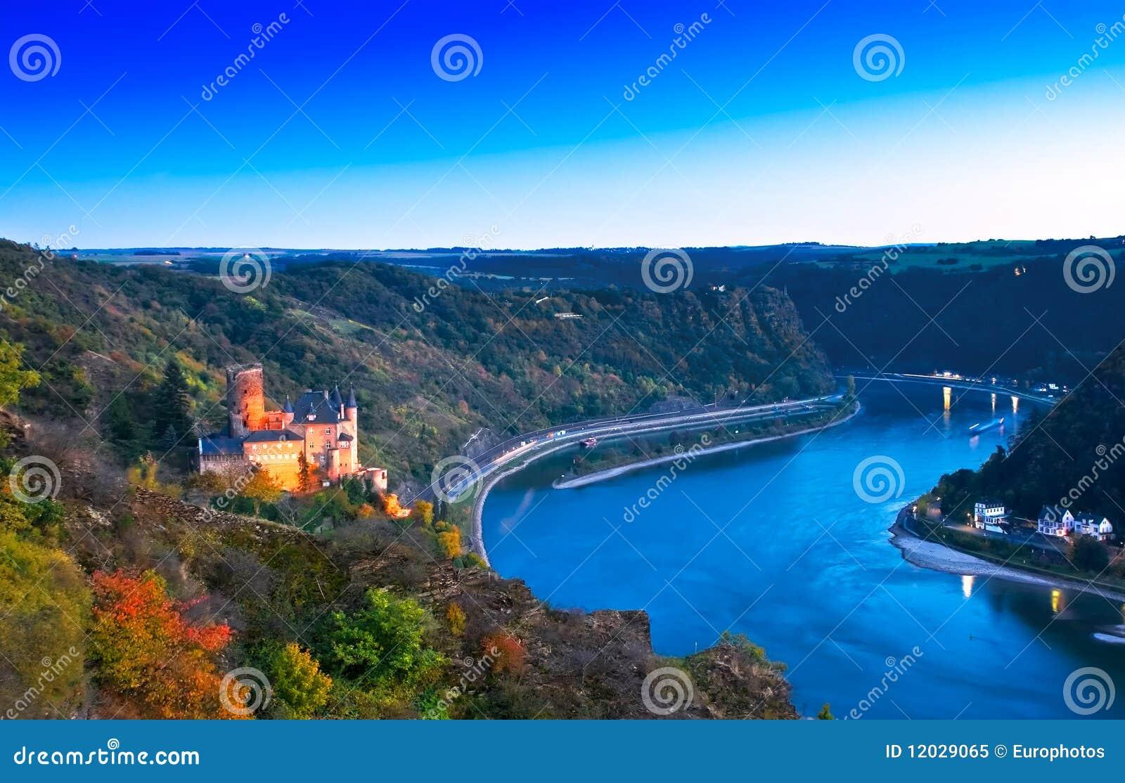 Burg Katz et le Loreley, Allemagne