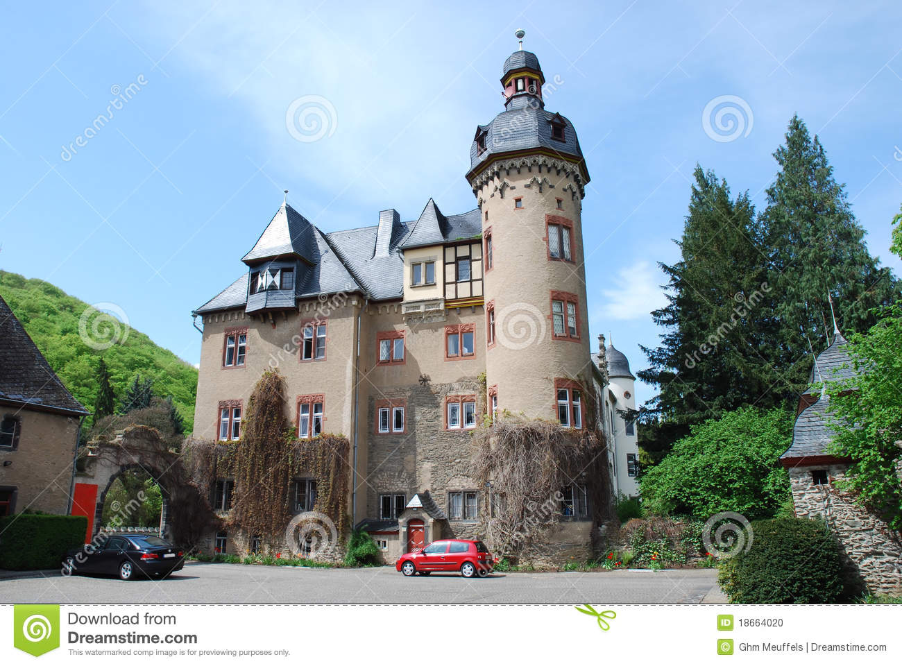 Andernach Germany  city photos : Burg Namedy A Castle, Andernach, Germany Stock Photo Image: 18664020