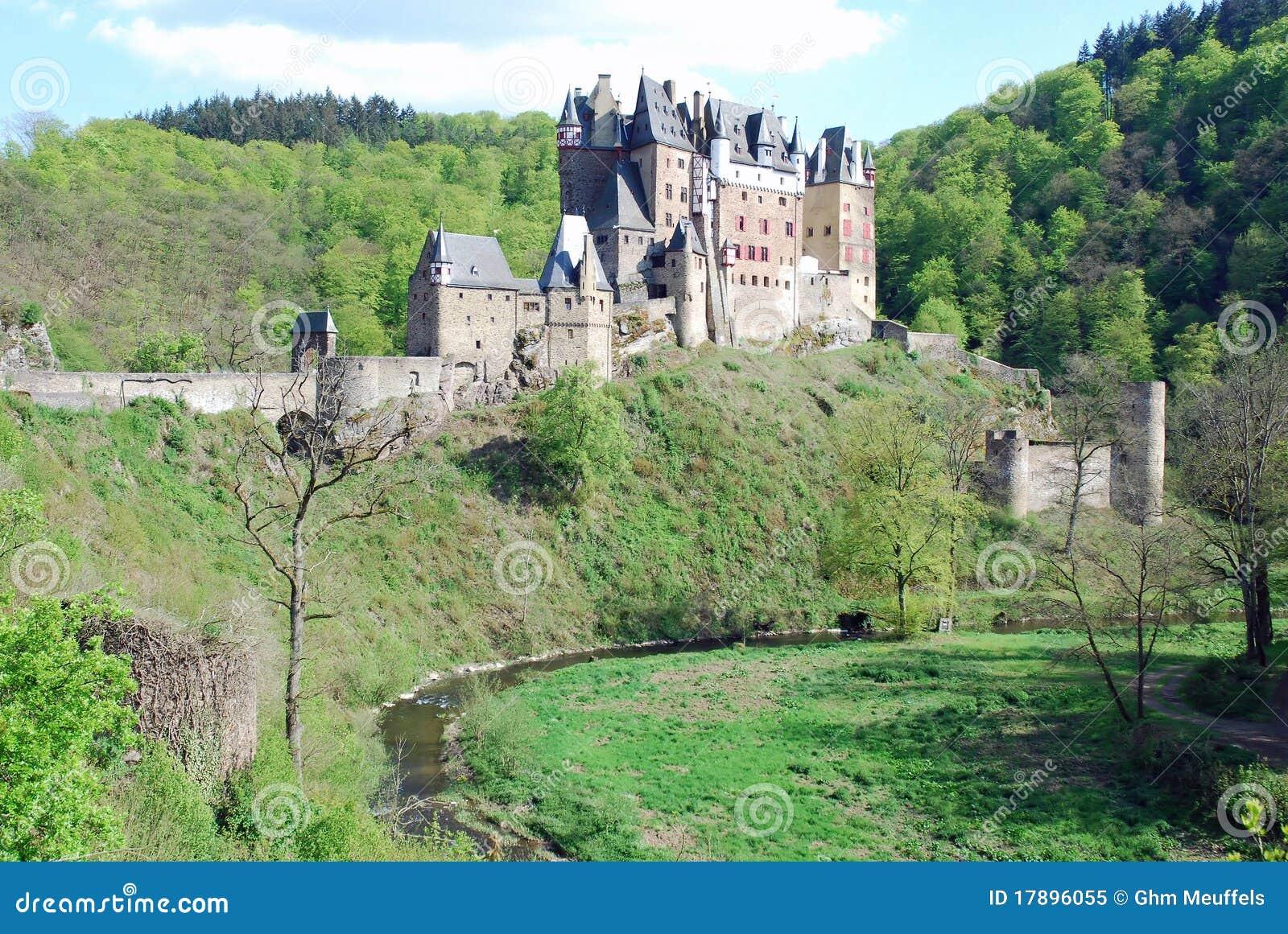 Burg romantique Eltz, la Moselle, Allemagne de château