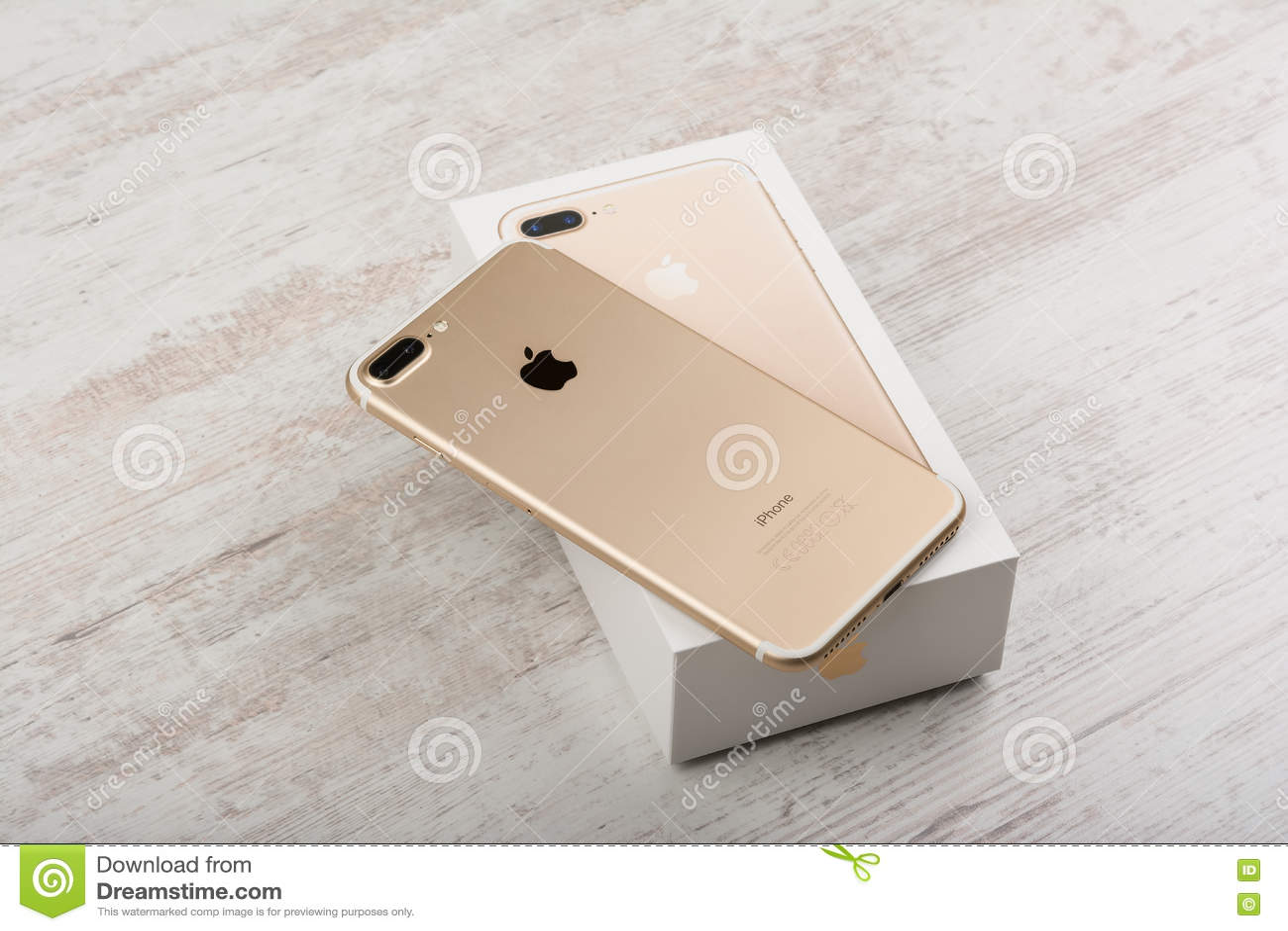 Burgas Bulgaria October 22 2016 New Apple Iphone 7 Plus Gold On