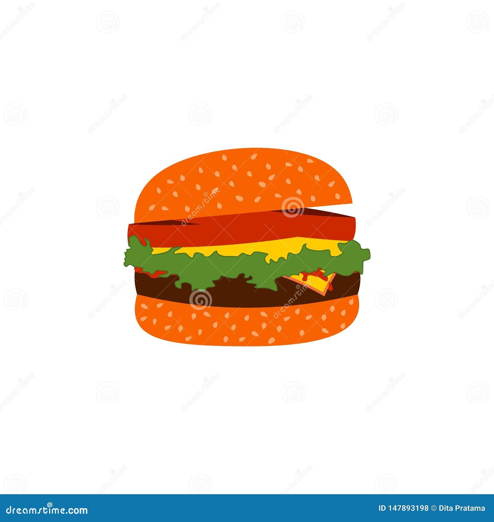 Burger διάνυσμα γρήγορου φαγητού