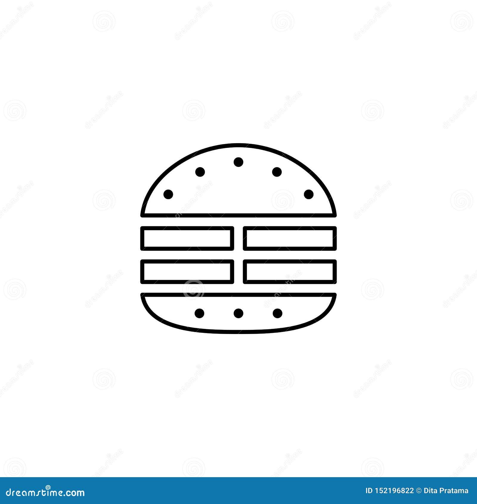Burger κρέατος εικονίδιο περιλήψεων