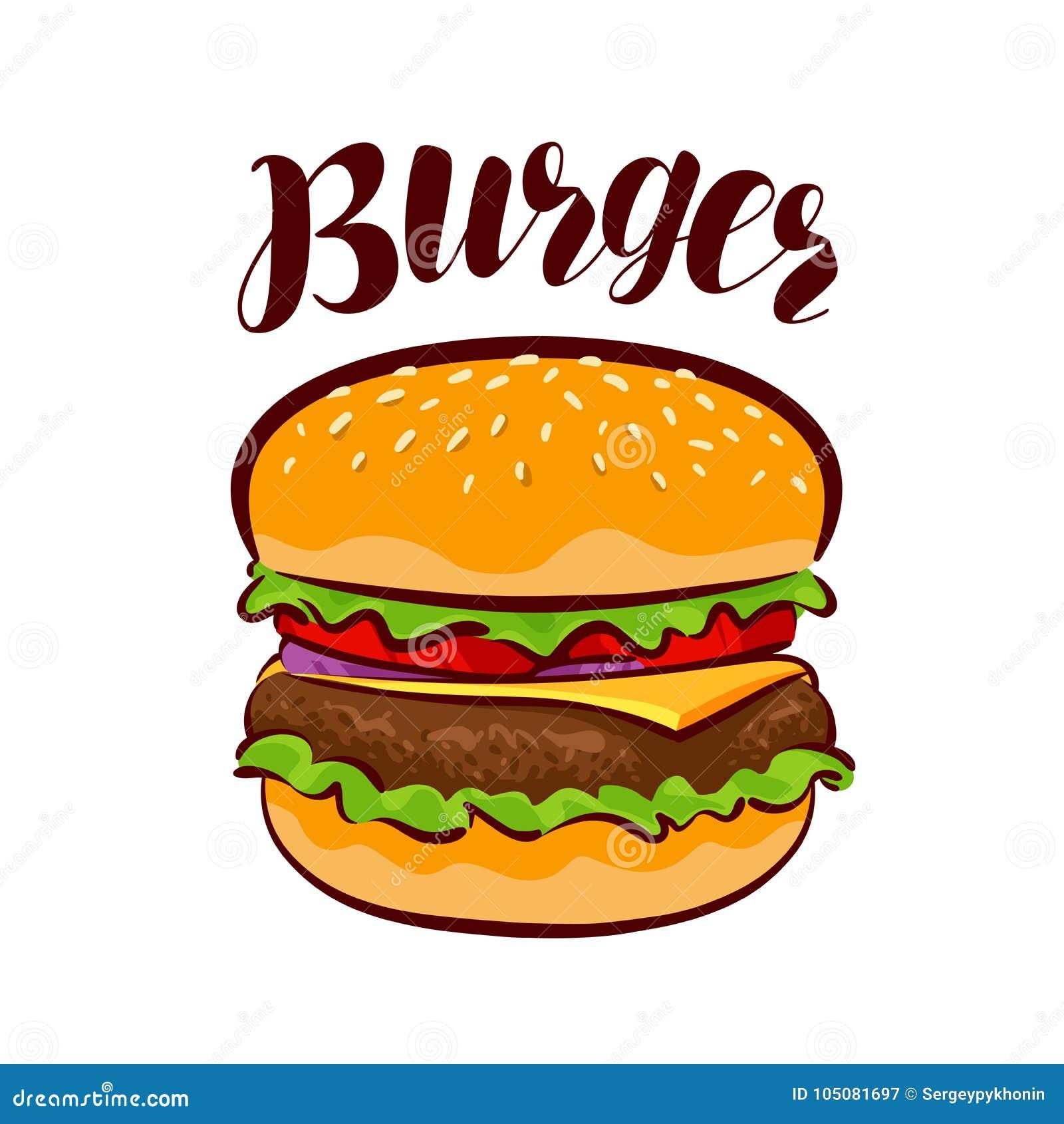 burger, american fast food. element for design menu restaurant or