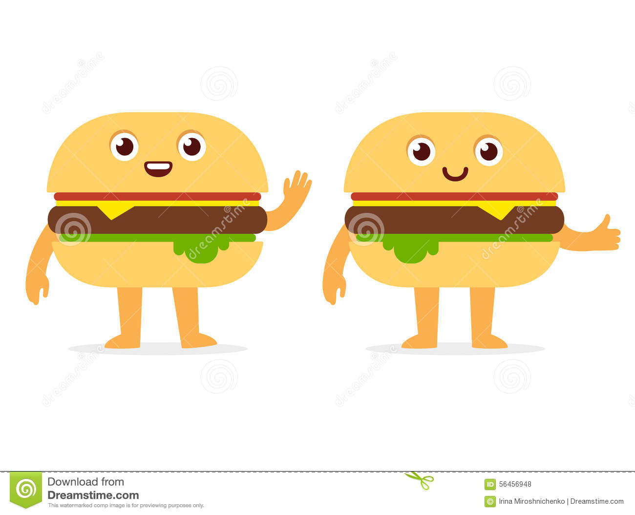 Burger Character Stock Vector - Image: 56456948