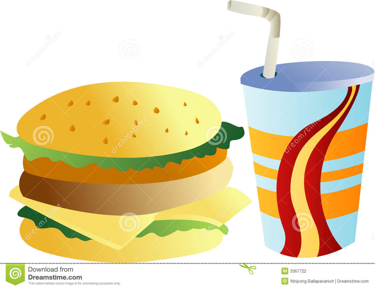 burger and drink stock photography image 3367722