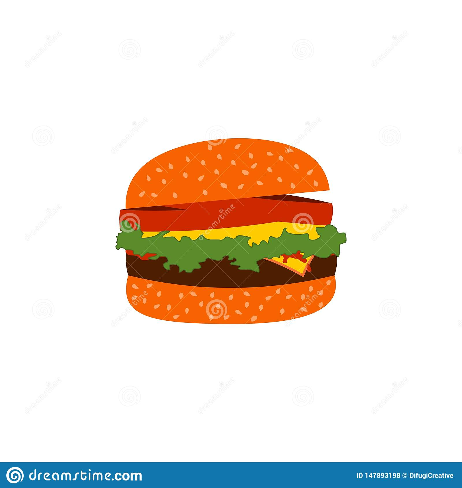 Burger fast food vector.