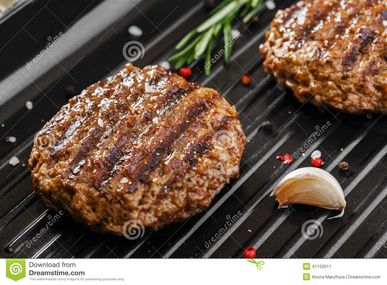 Download Burger grill stock image. Image of food, grill, flames - 41153911