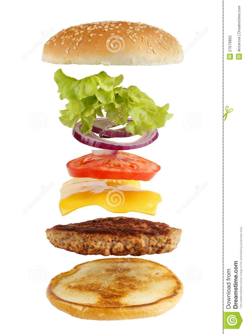 Burger Ingredients Stock Photography - Image: 27679862