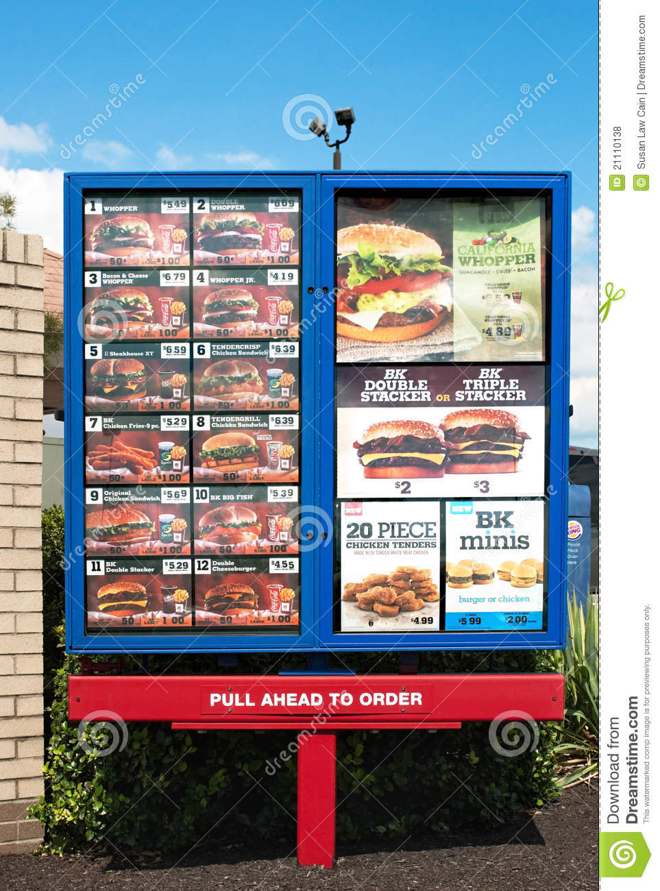 Burger King Restaurant Menu