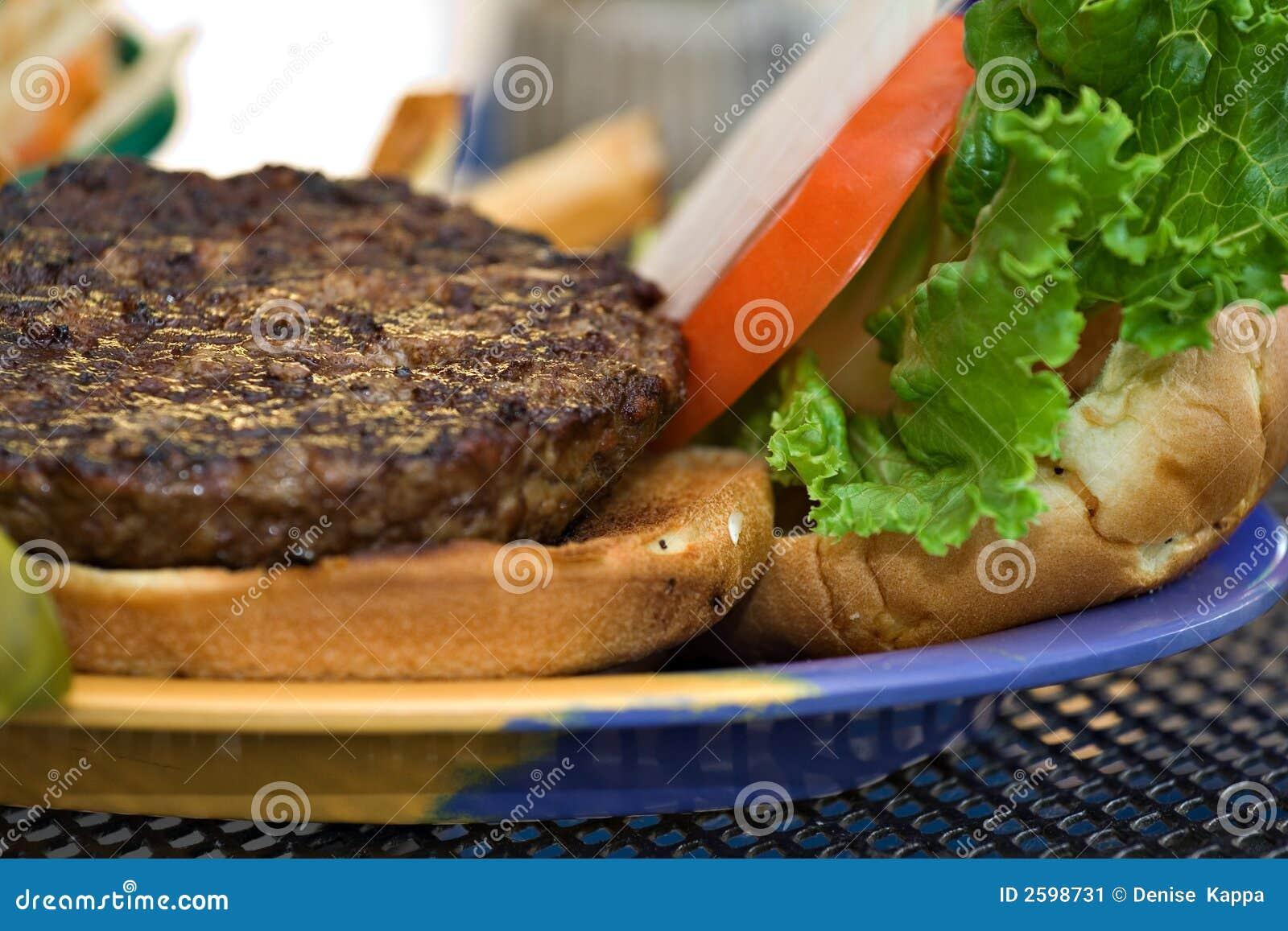 Burger platter