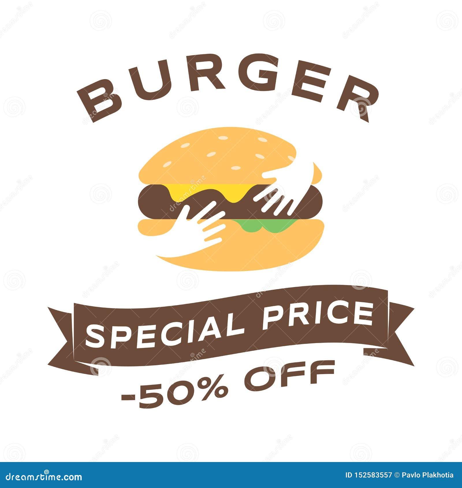 Burger Sale Social Media Banner Template. Fast Food ...