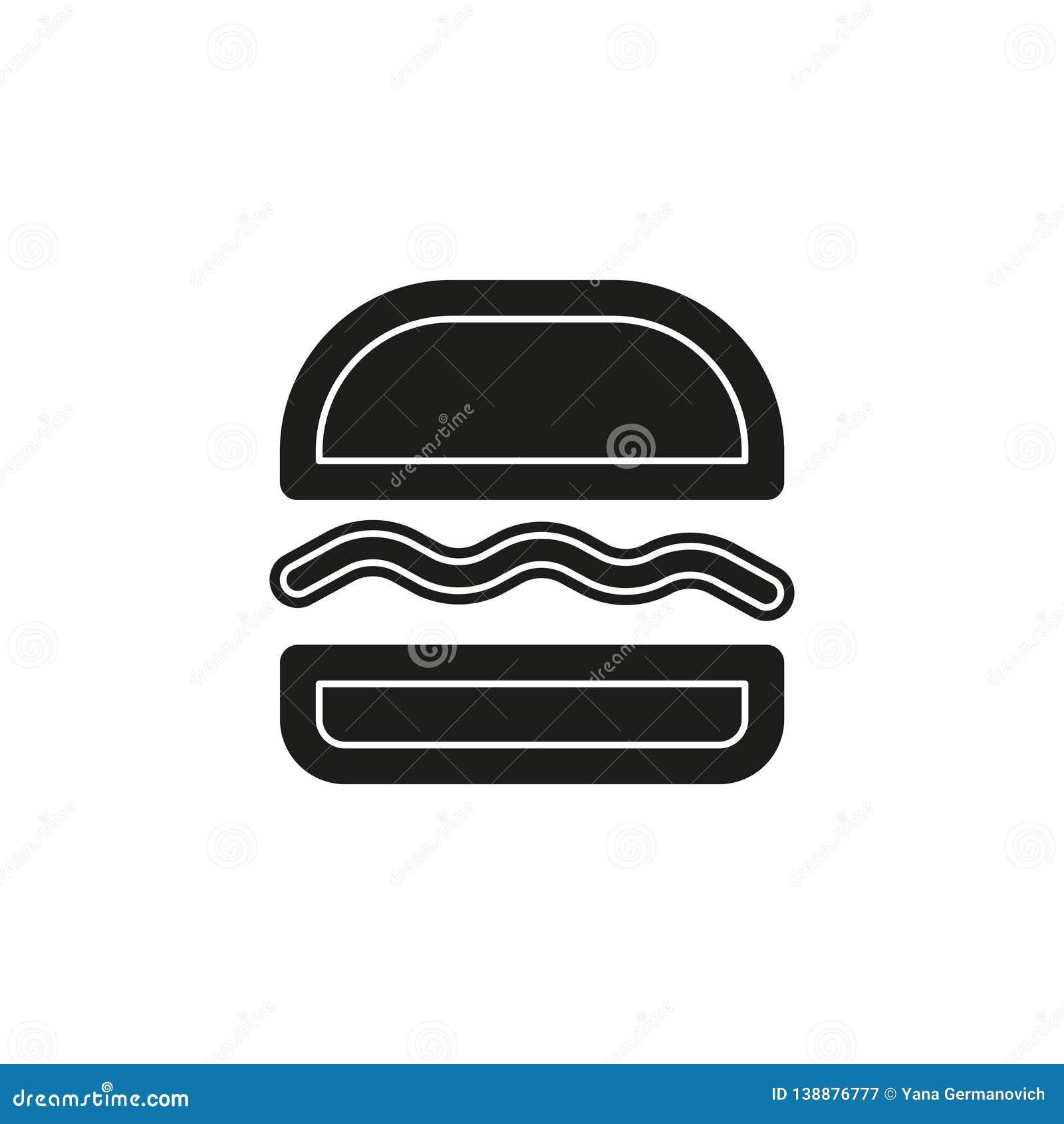 burger sandwich icon - fast food