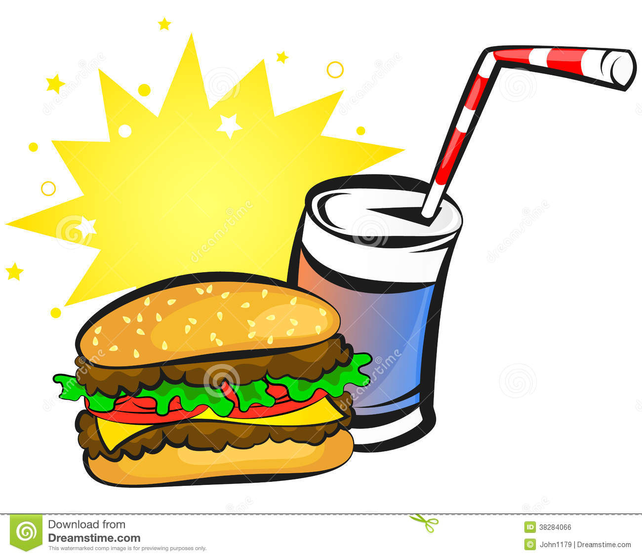 Royalty Free Stock Image Burger Soda Image38284066 on cartoon coke