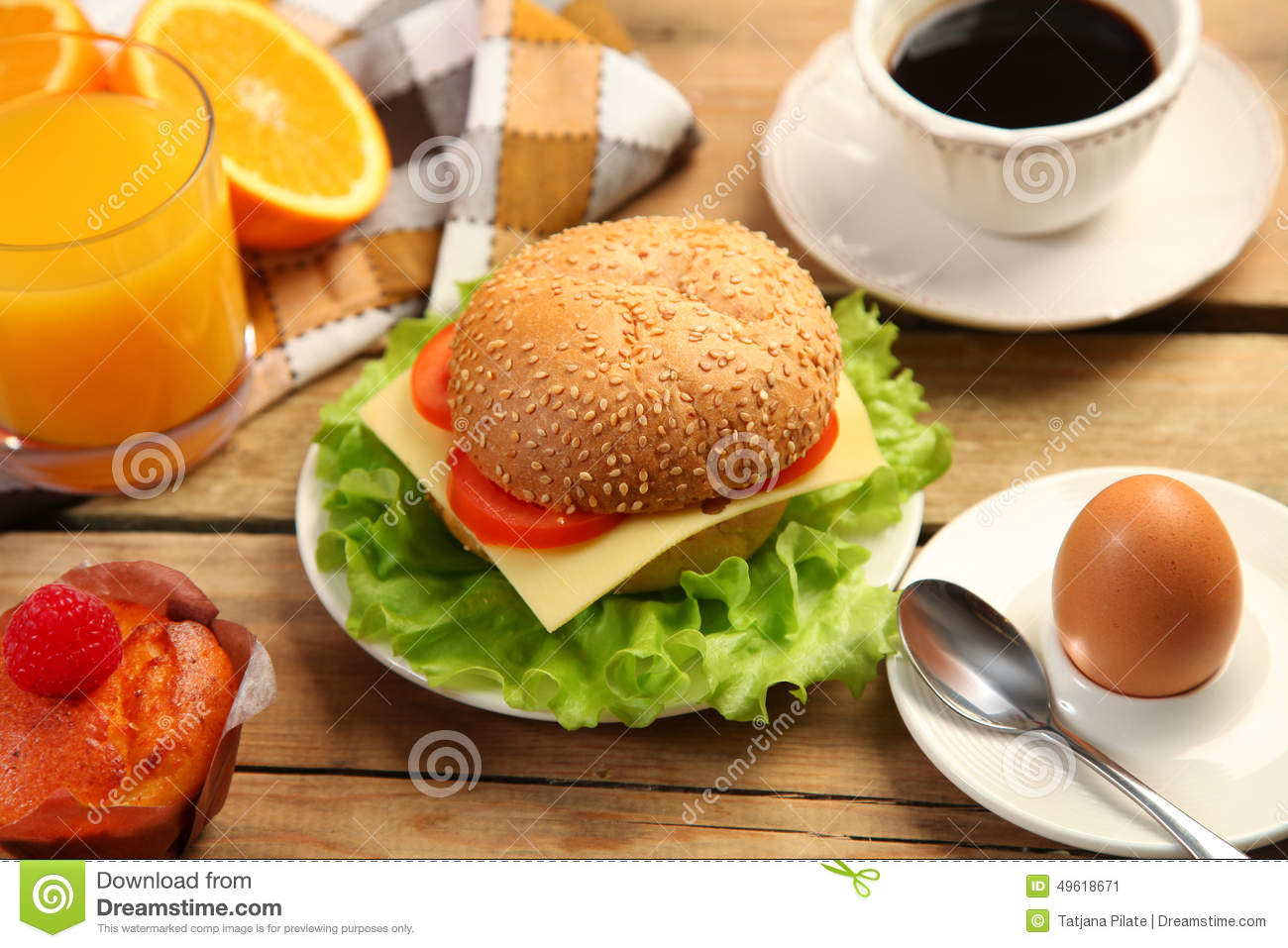 Burger stock photo image 49618671 for Table burger