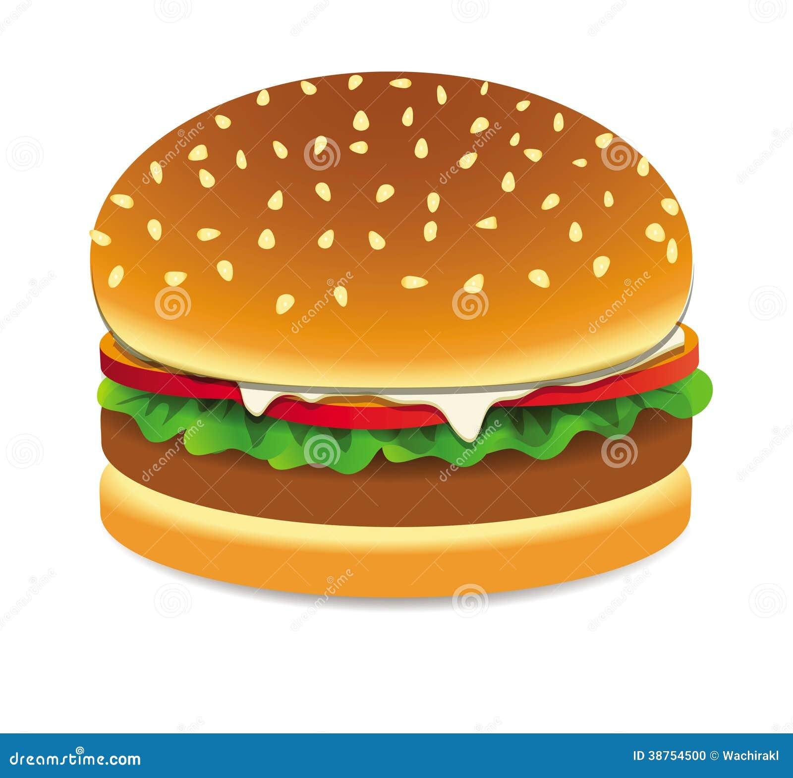 Fast Food Bbq Burger