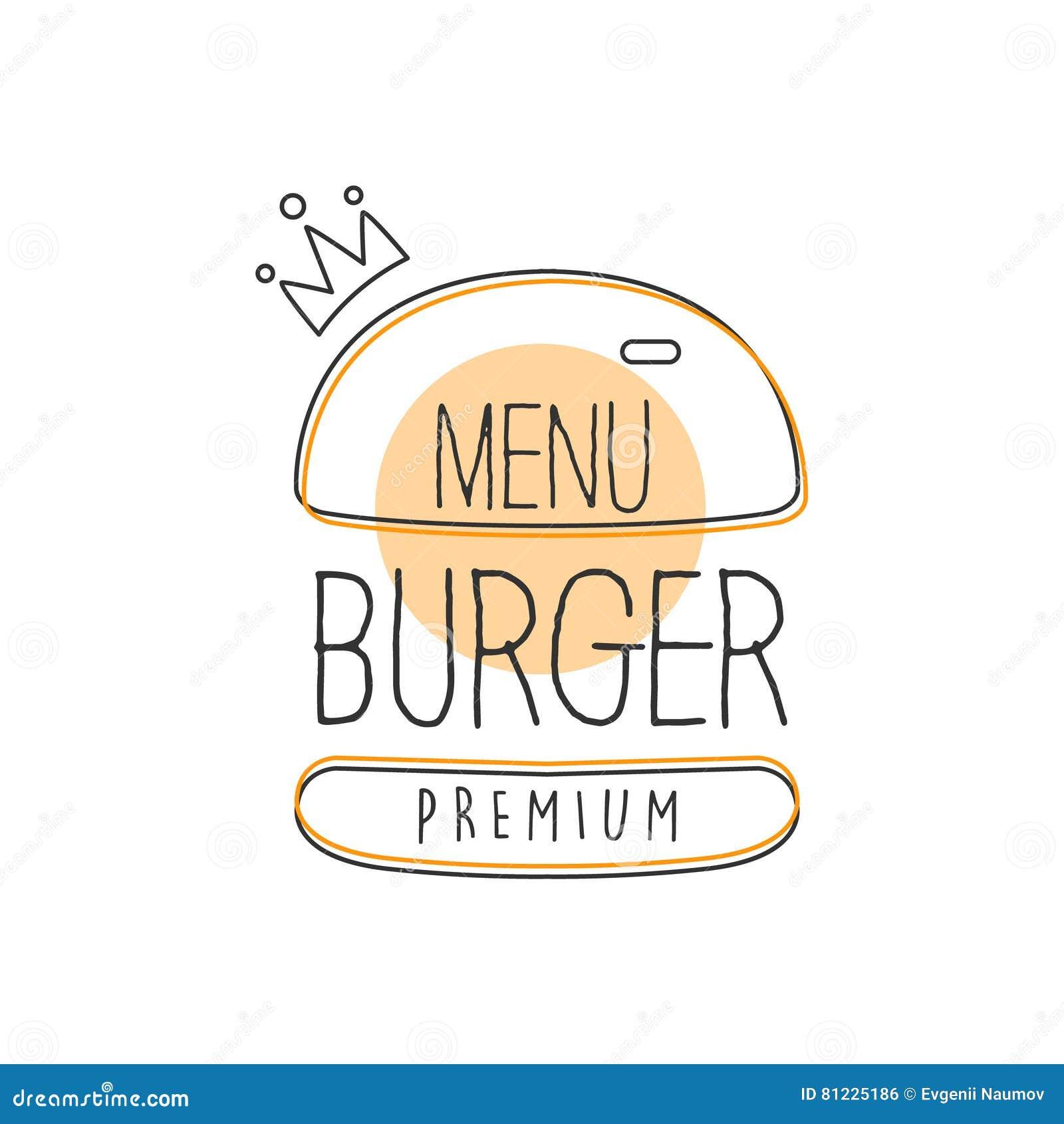 burger wih crown premium quality fast food street cafe menu