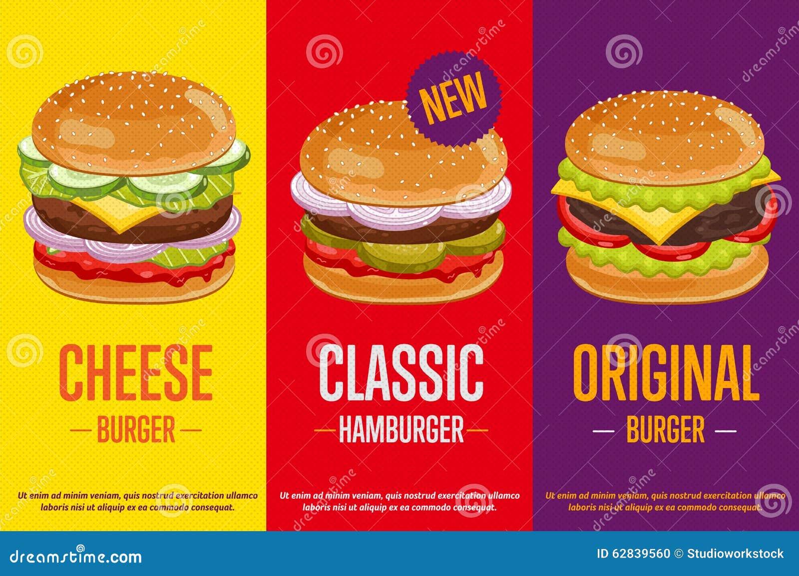 Burgers Menu Template Illustration 62839560
