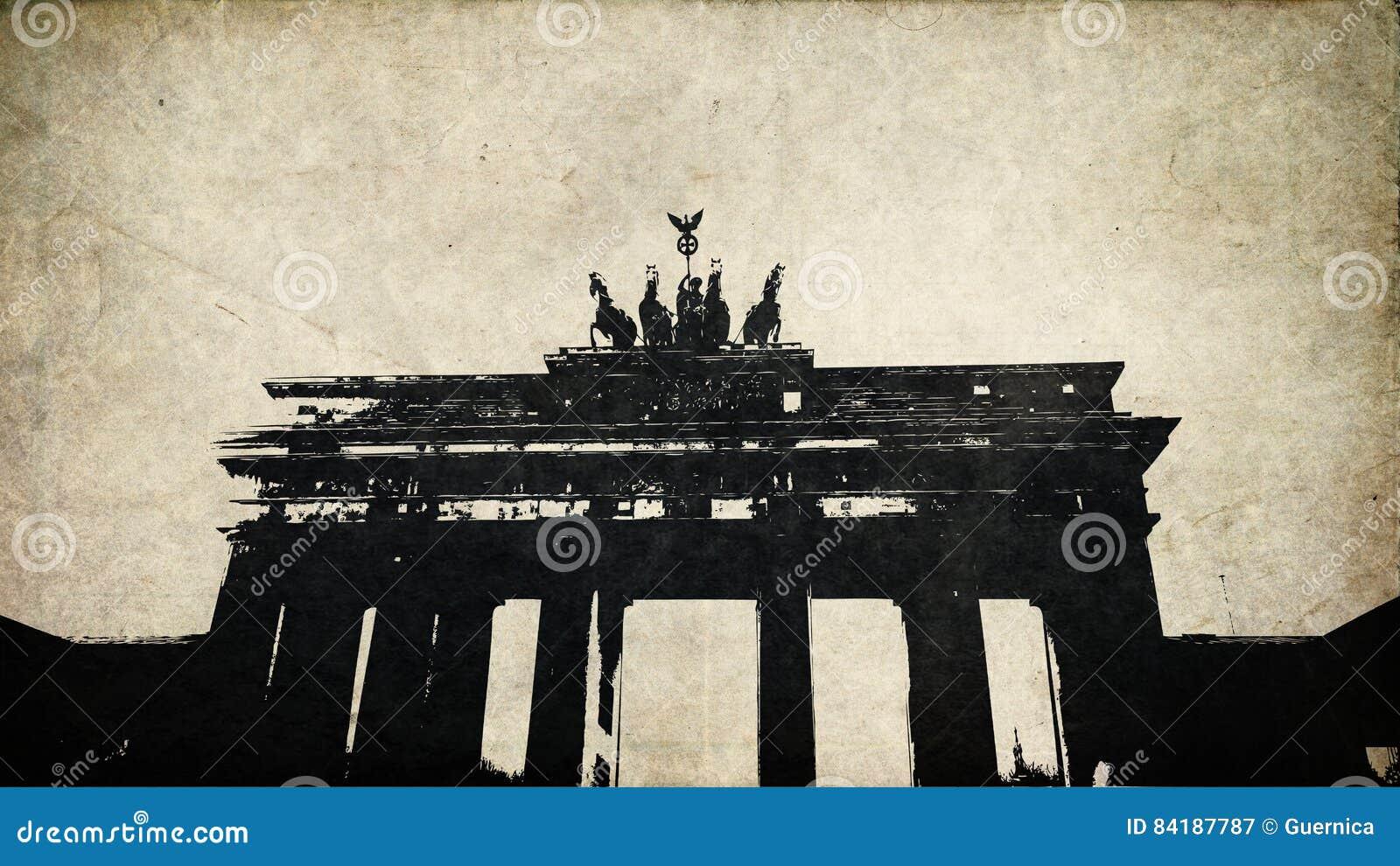 Burgertor van Grungebranden in de wijnoogst van Berlijn