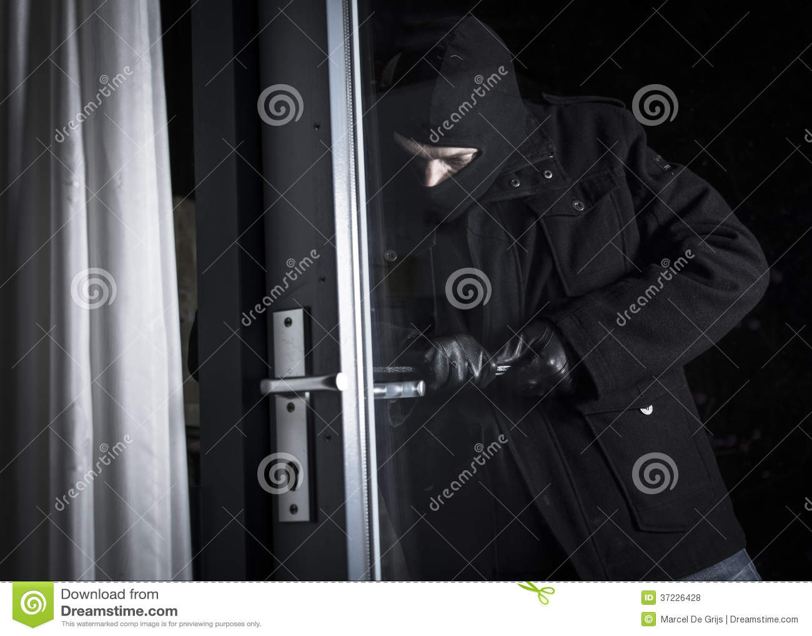 Burglar forcing door