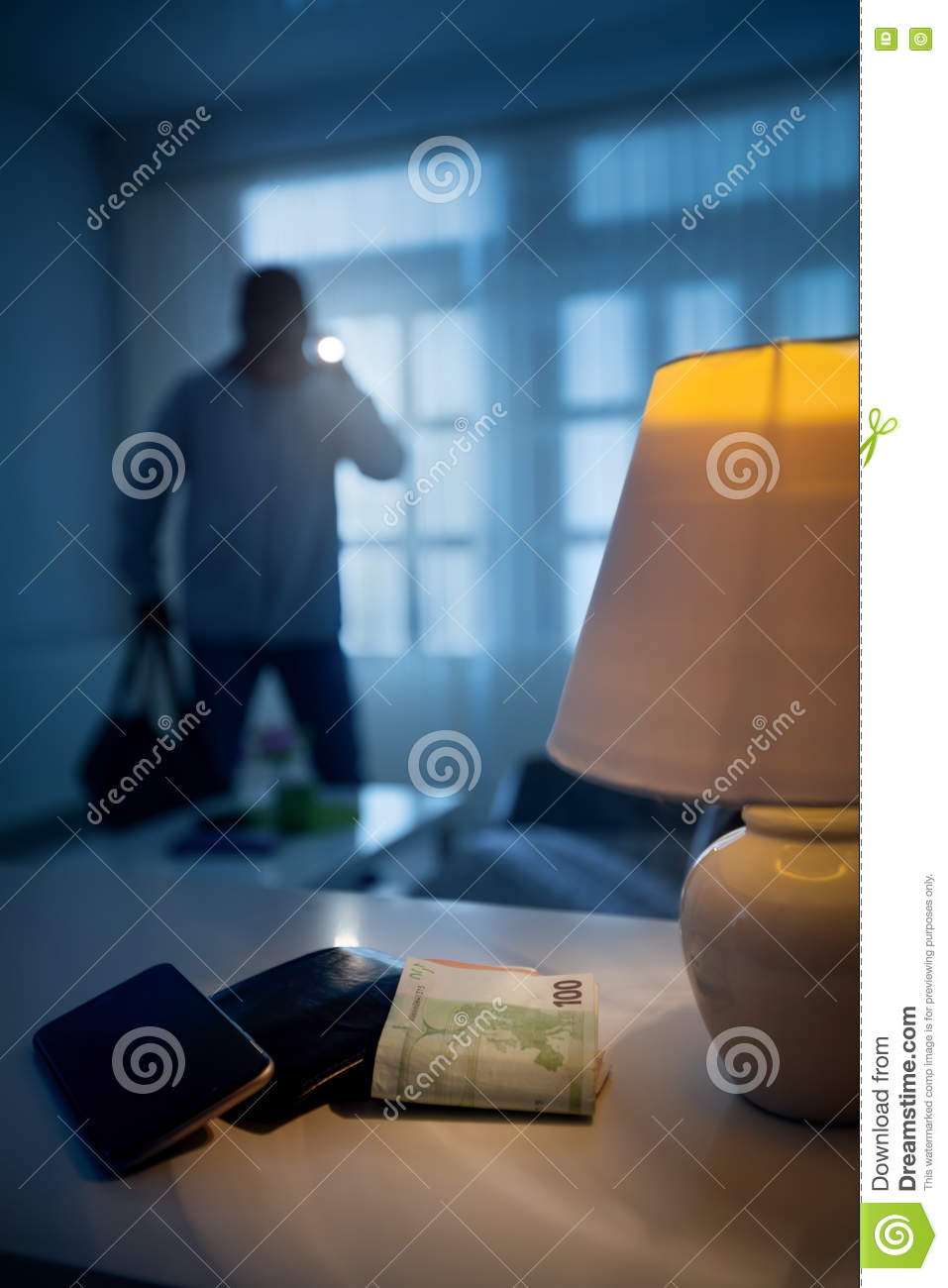Burglary or thief in a house