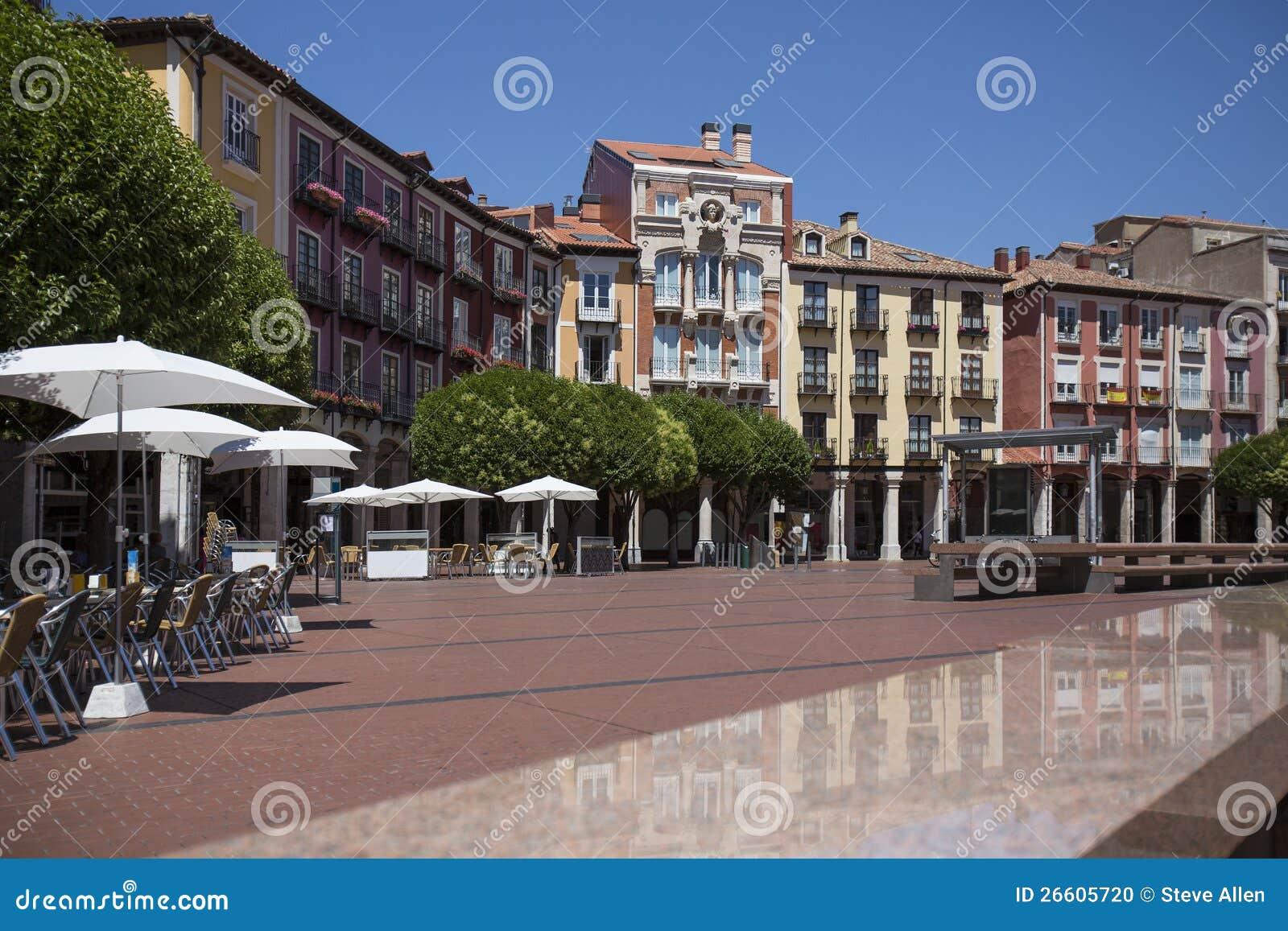 Burgos - PlazaMajor - Spanien