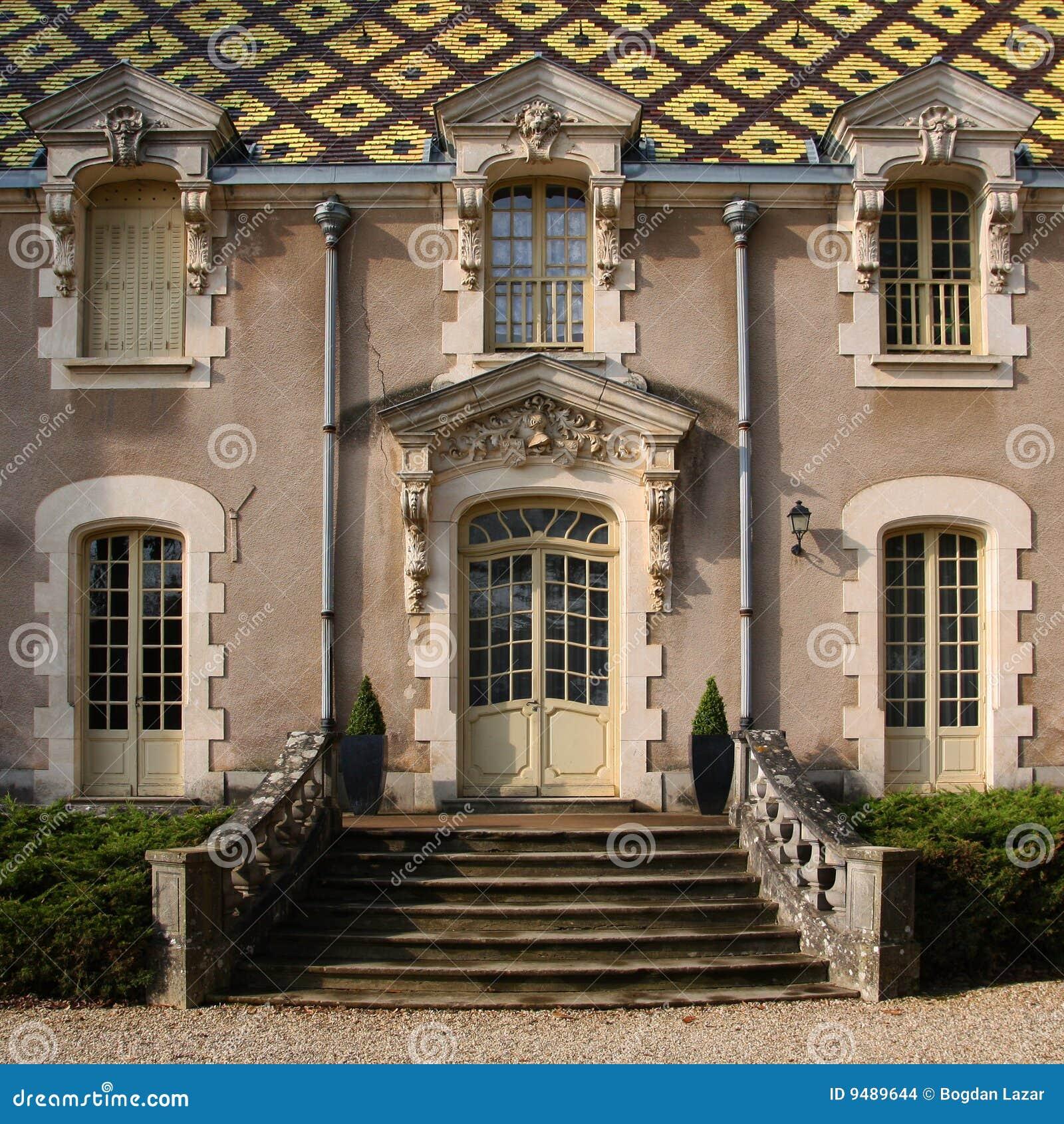 Burgundian Baroque Chateau Corton Andre France Stock