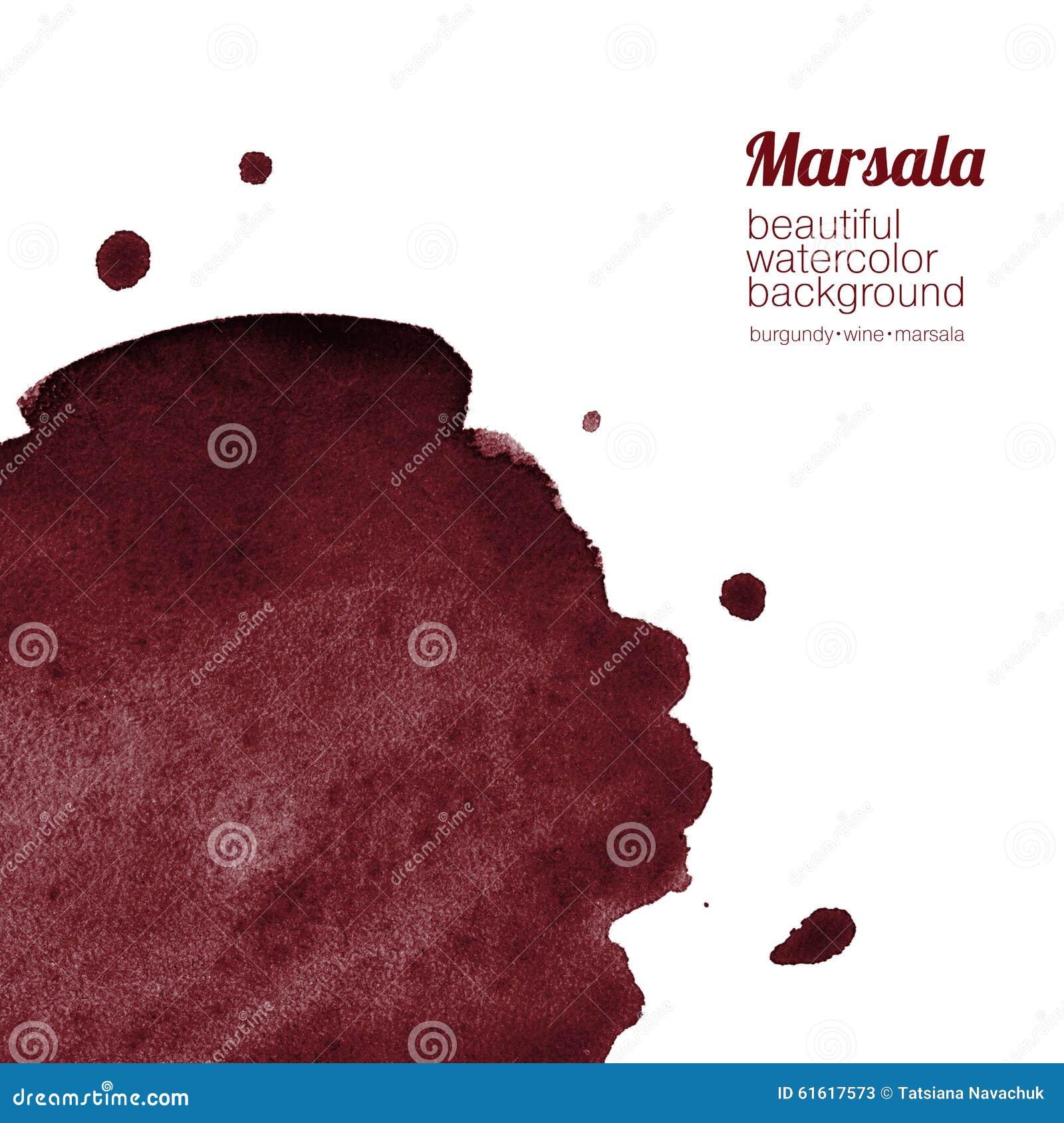 Burgundy, Wine, Marsala Watercolor Background Stock ...