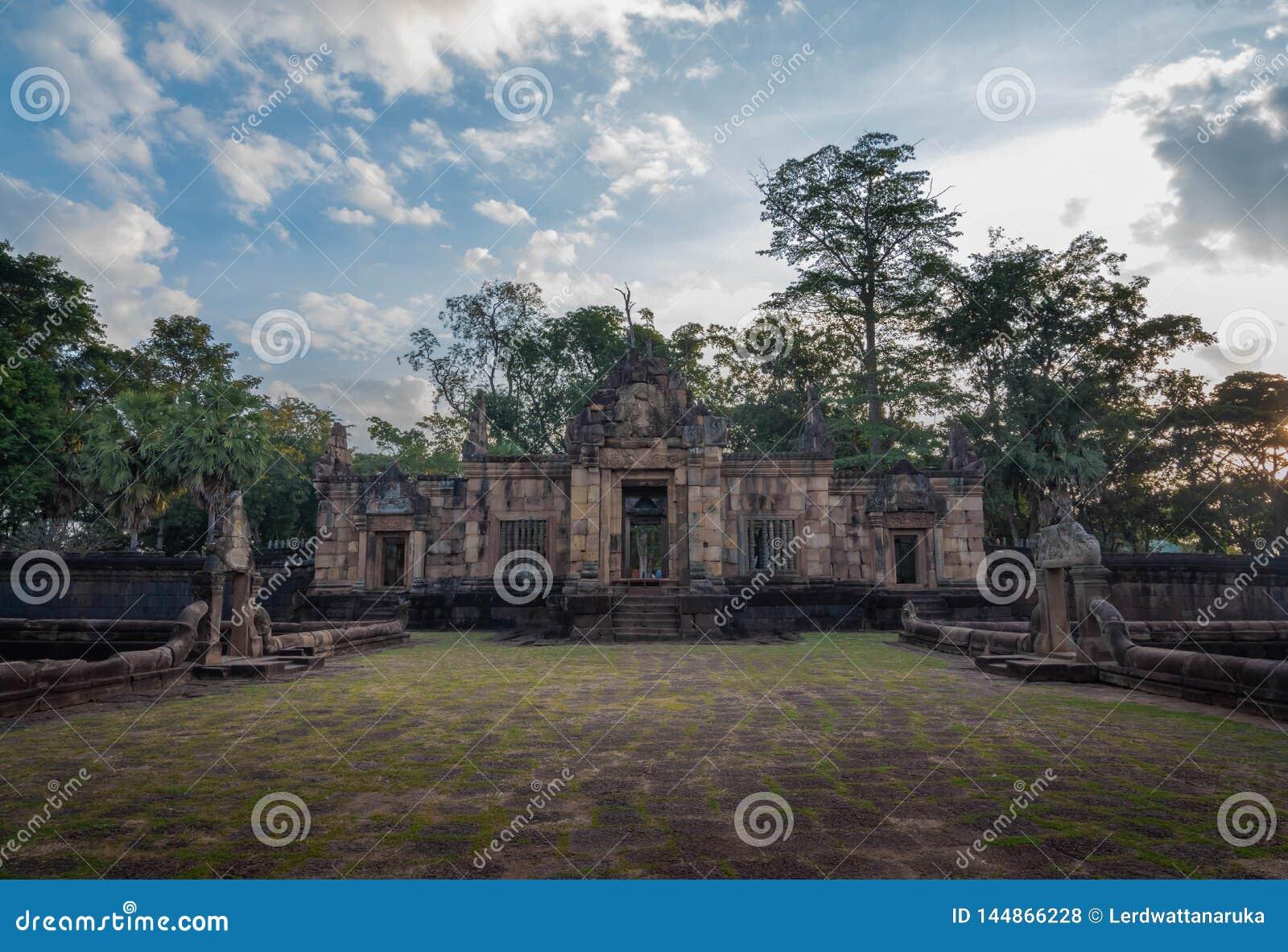 BURIRUM,THAILAND - DECEMBER 07, 2018: PRASARTHIN MUANGTAM or THE STONE CASTLE MUANG TAM at Prakhonchai District