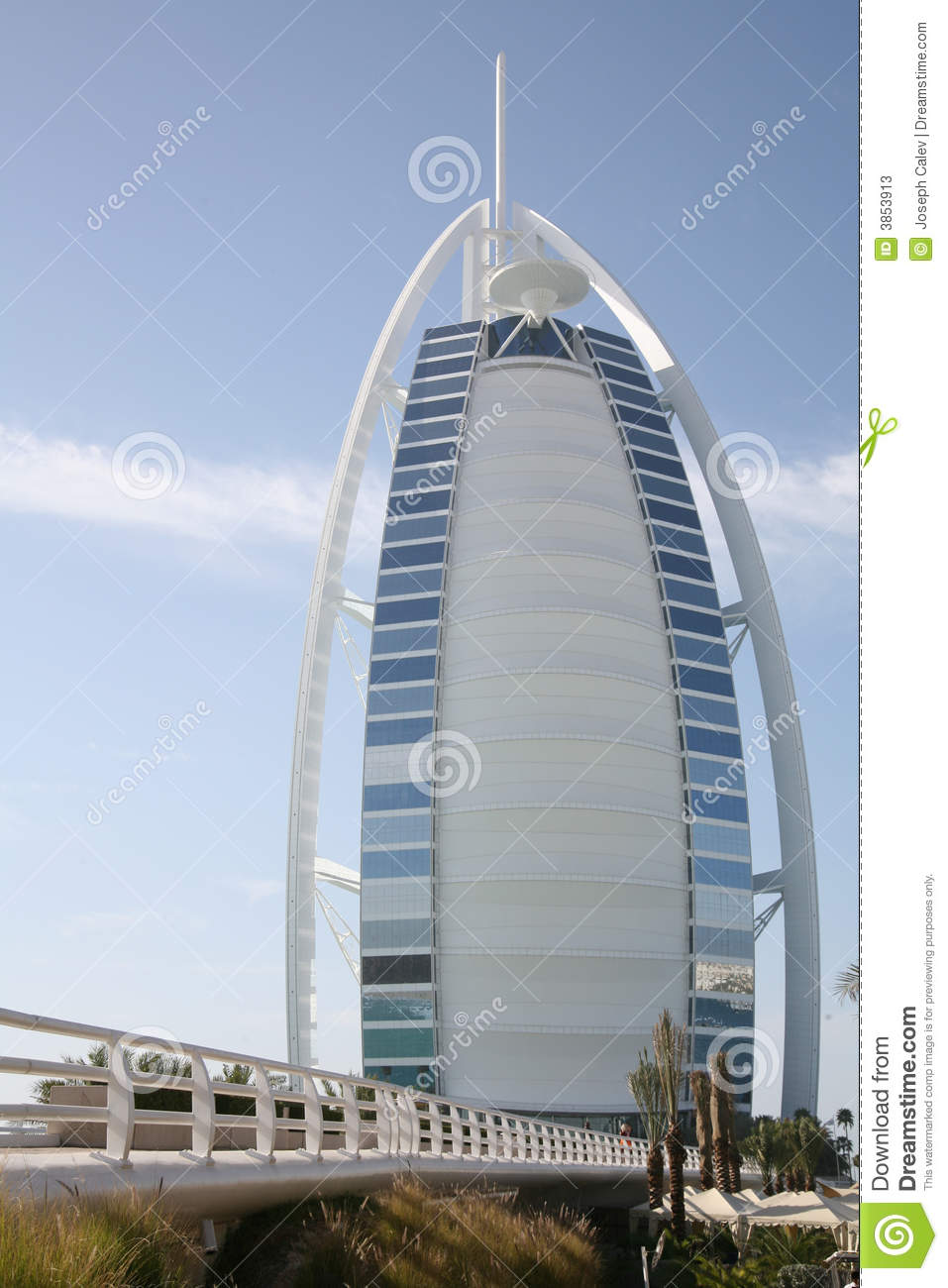 Burj al arab hotel dubai stock photos image 3853913 for Burj arab hotel dubai
