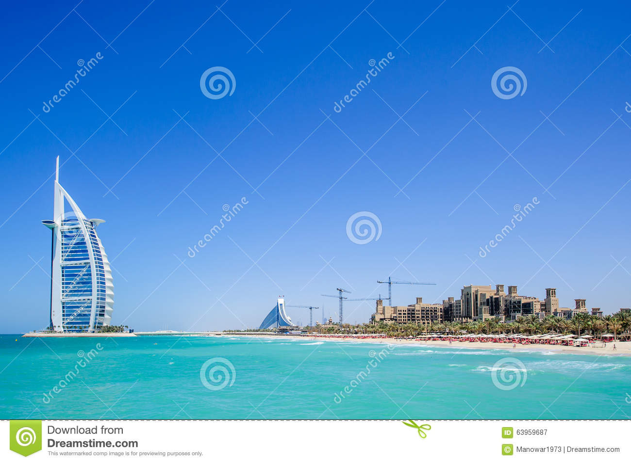 Burj al arab hotel dubai uae editorial photography image for The sail hotel dubai