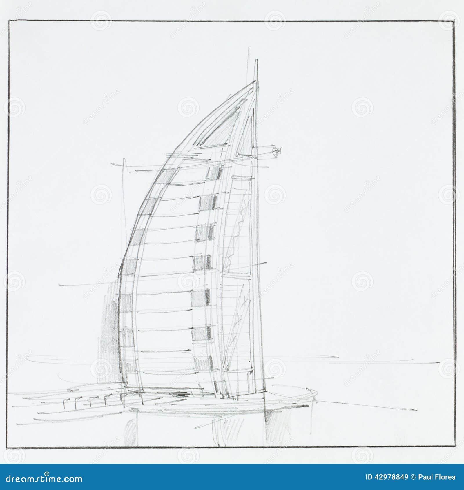 Burj Al Arab Hotel Editorial Stock Image Illustration Of