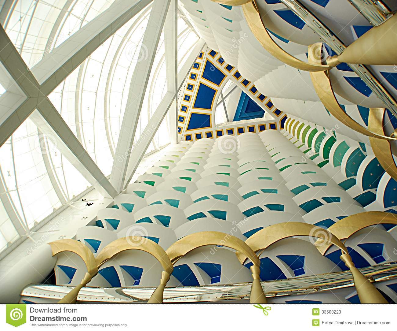 Burj al arab inside stock image image of inside for Burj al arab the most luxurious hotel