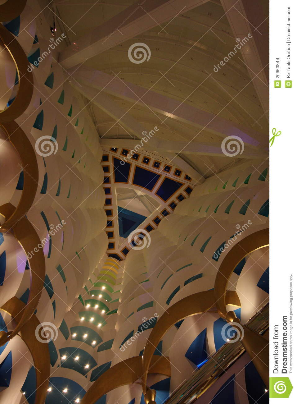 Burj Al Arab Interior Stock Images Image 20953844