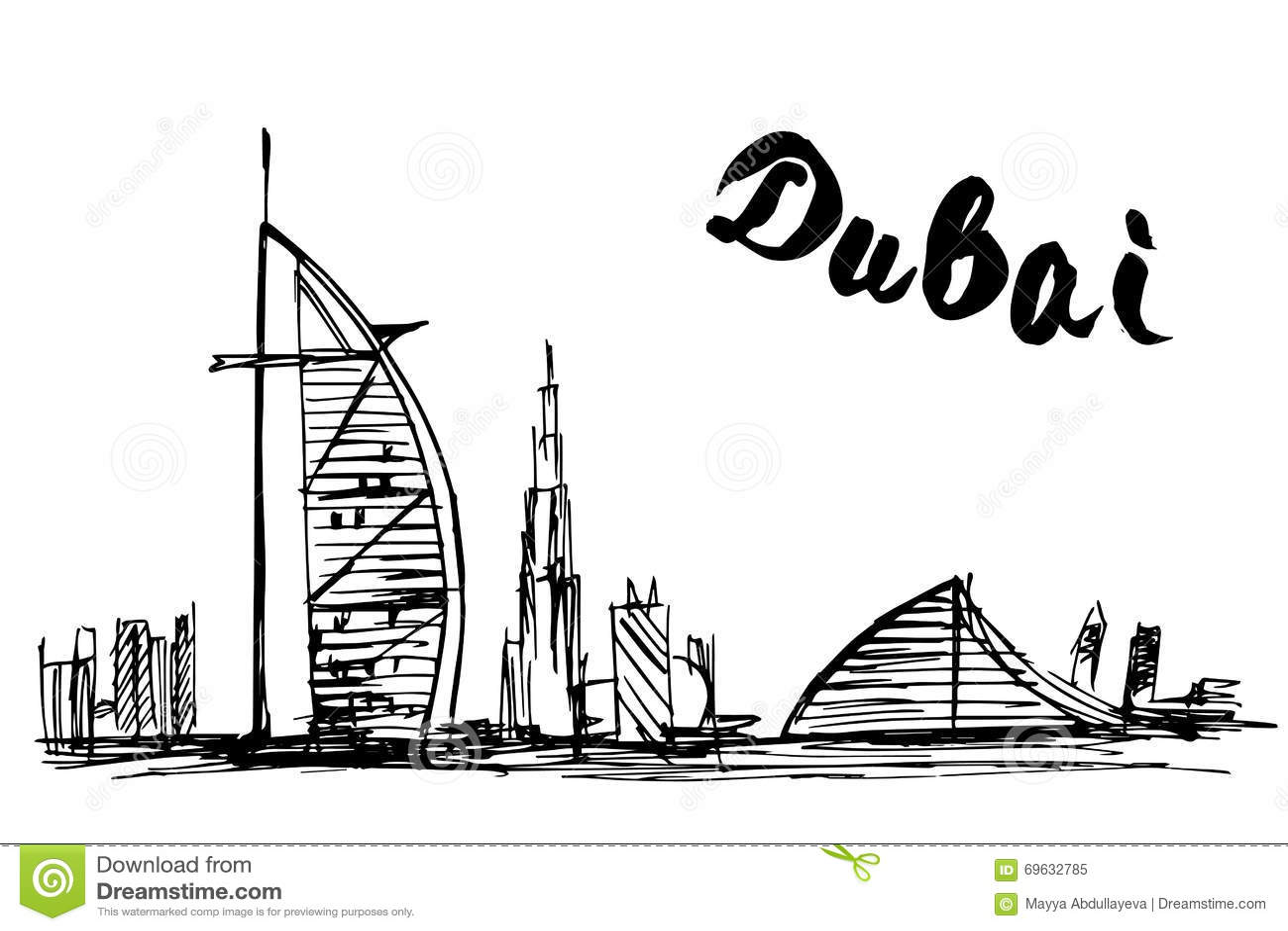 Дубай рисунок карандашом особенности покупки квартиры в дубае