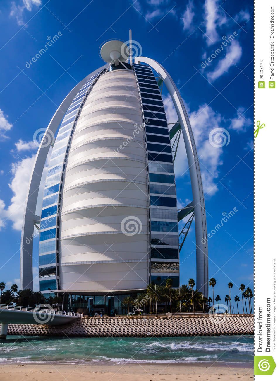 Burj al arab sail shaped hotel editorial stock image for The sail hotel dubai