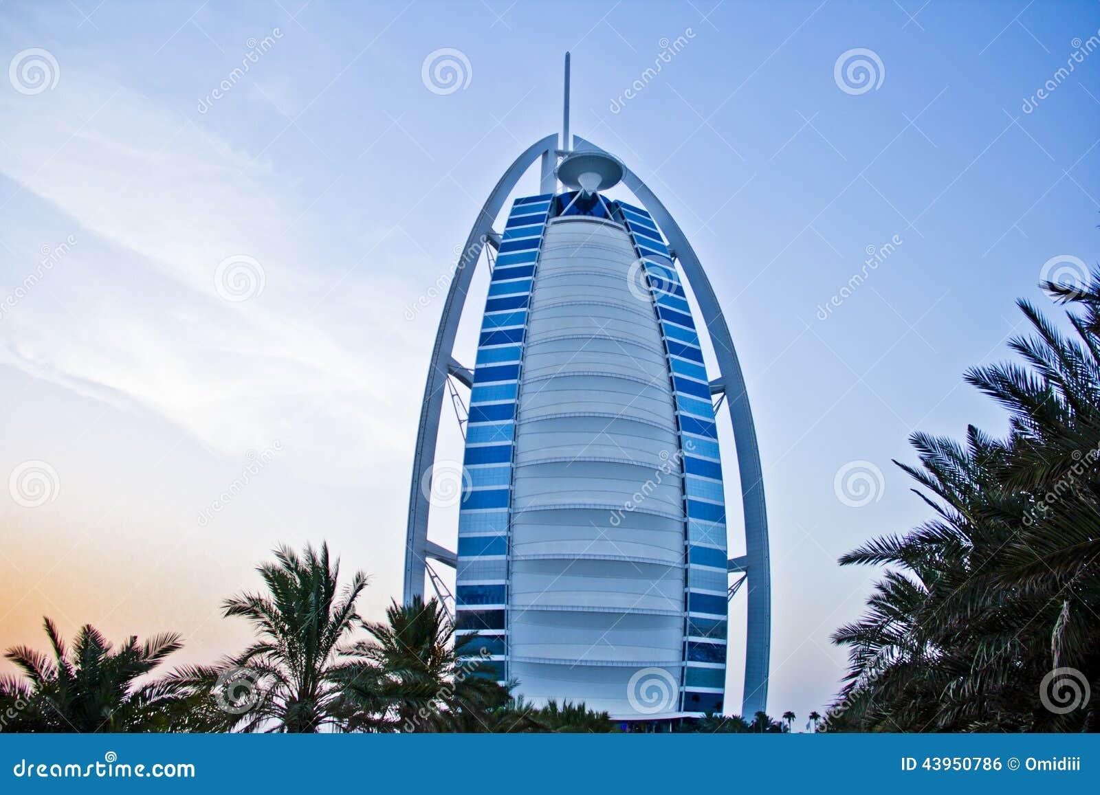 Burj al arab 7 star hotel in sunset stock photo image for Burj al arab 7 star