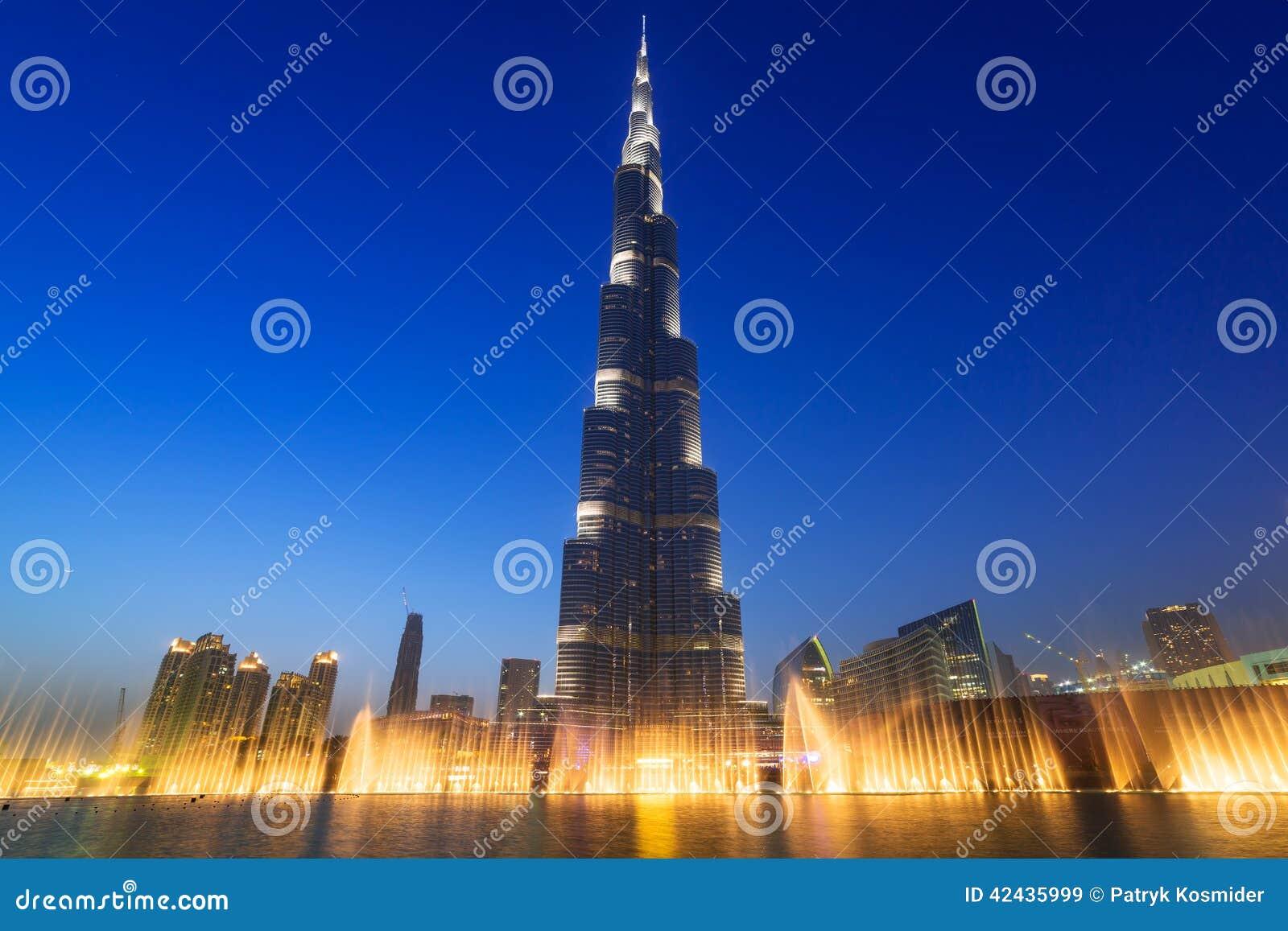 Burj Khalifa in Dubai nachts, UAE