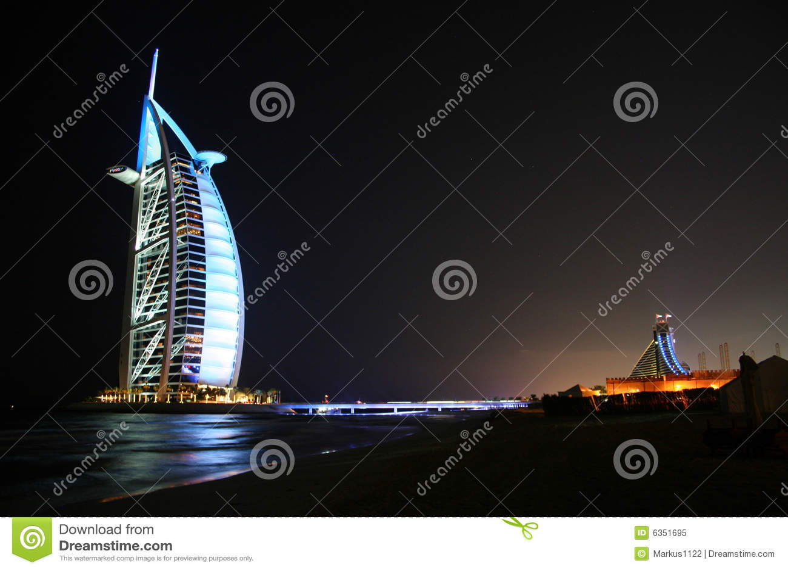 Burjdubai för al arabisk natt