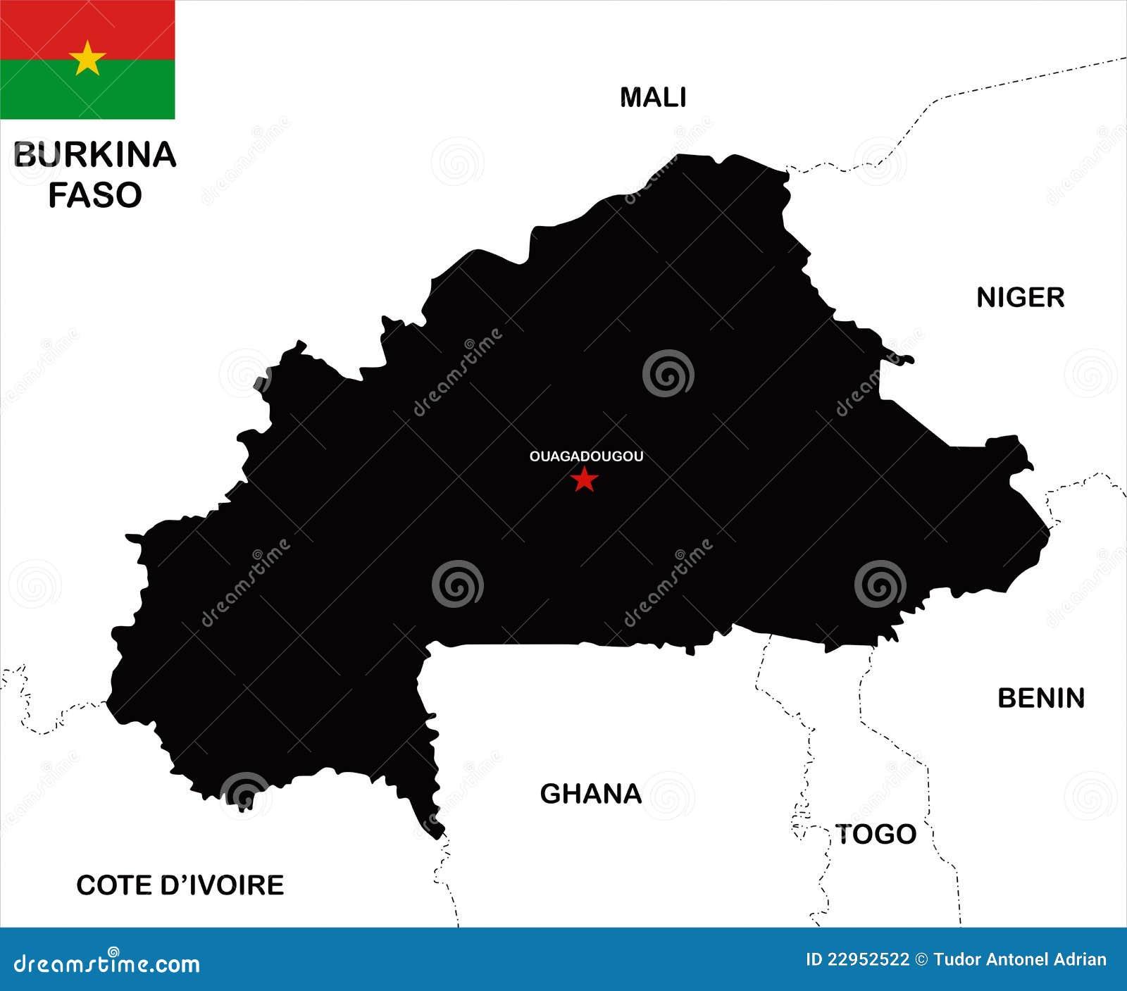 Burkina Faso Political Map Cartoon Vector CartoonDealercom 96139187