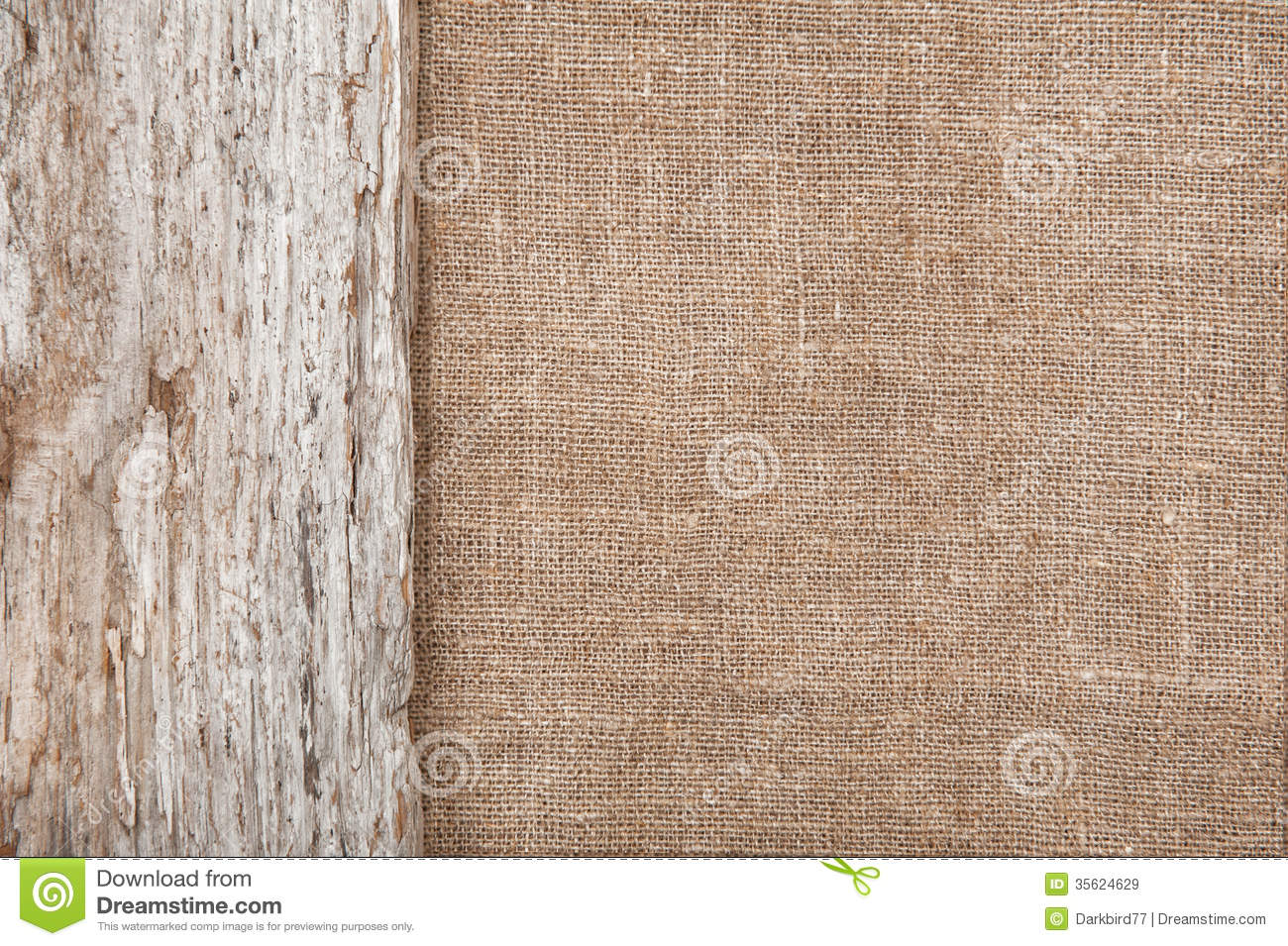 Burlap Background Bordered By Old Wood Royalty Free Stock ...