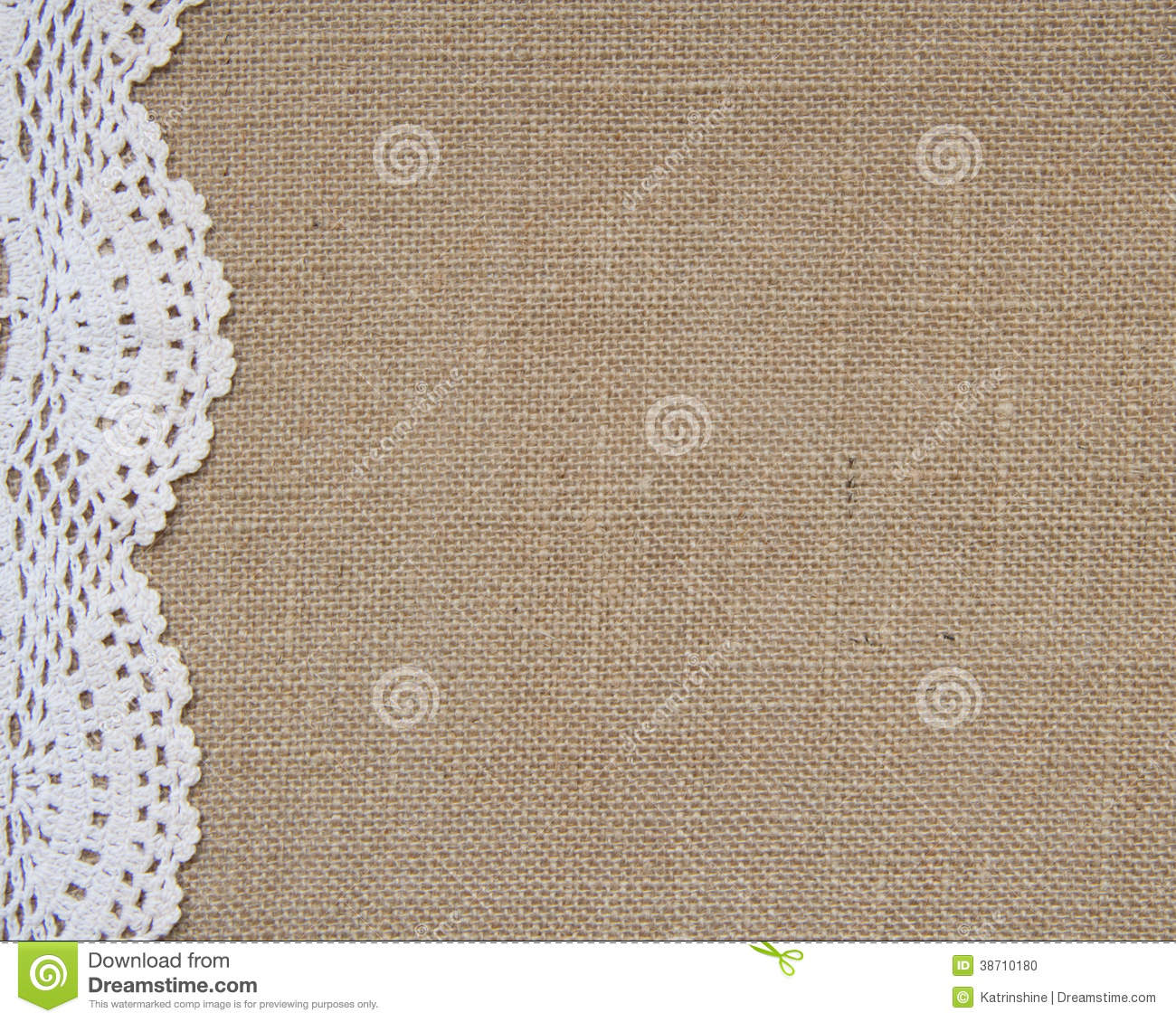burlap background with lace stock photo image of grunge fiber 38710180. Black Bedroom Furniture Sets. Home Design Ideas