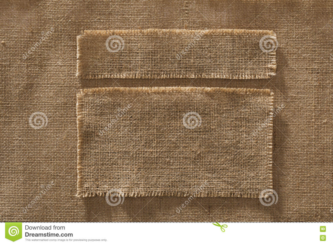 Burlap Fabric Frames Pieces Labels, Linen Cloth Patch on Hessian