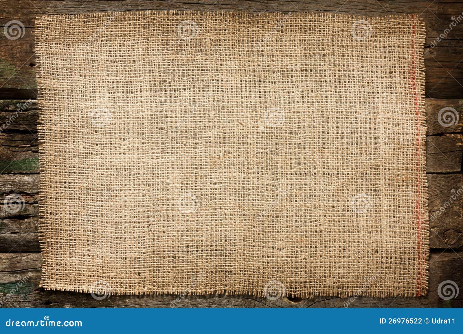 Burlap jutowy brezentowy rocznika tło