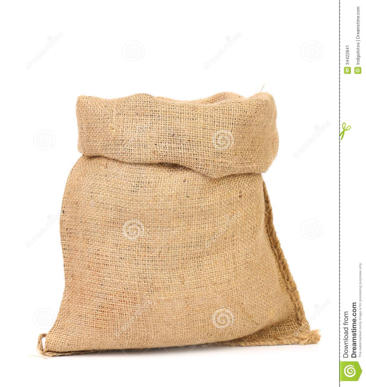 Burlap Sack Isolated On White Background Stock Image ...