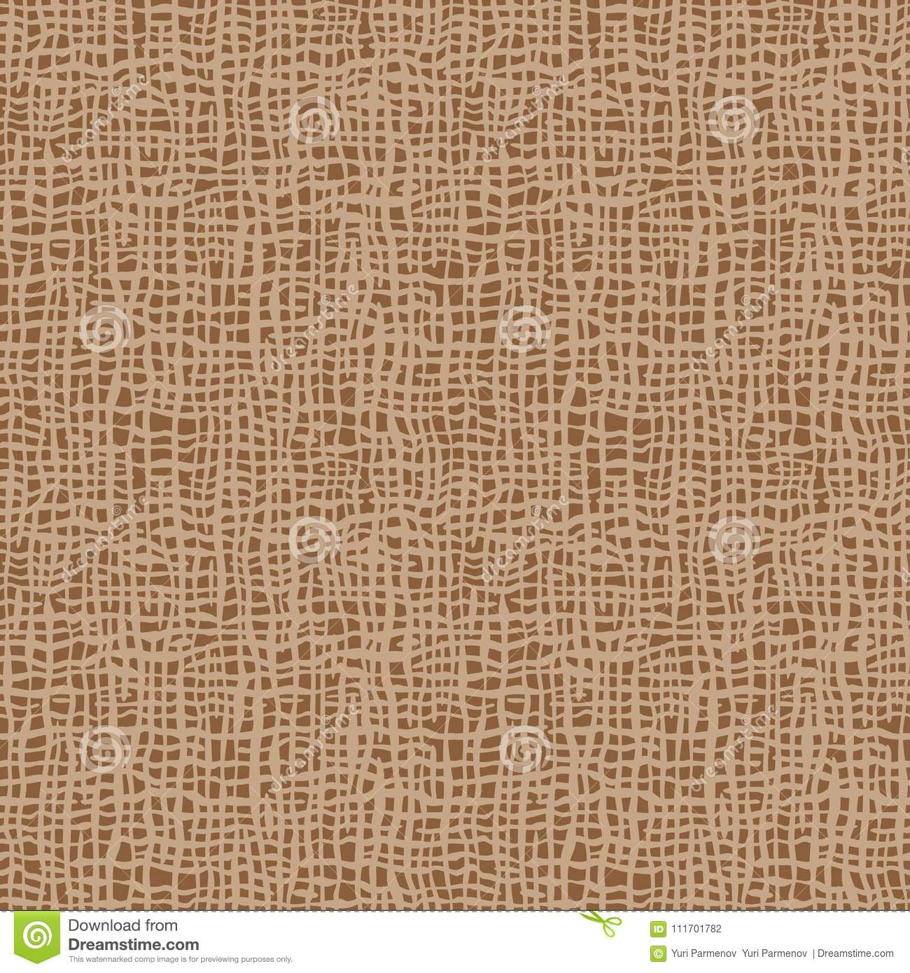 Burlap texture. Brown fabric. Canvas seamless background pattern. Cloth linen sack backdrop.